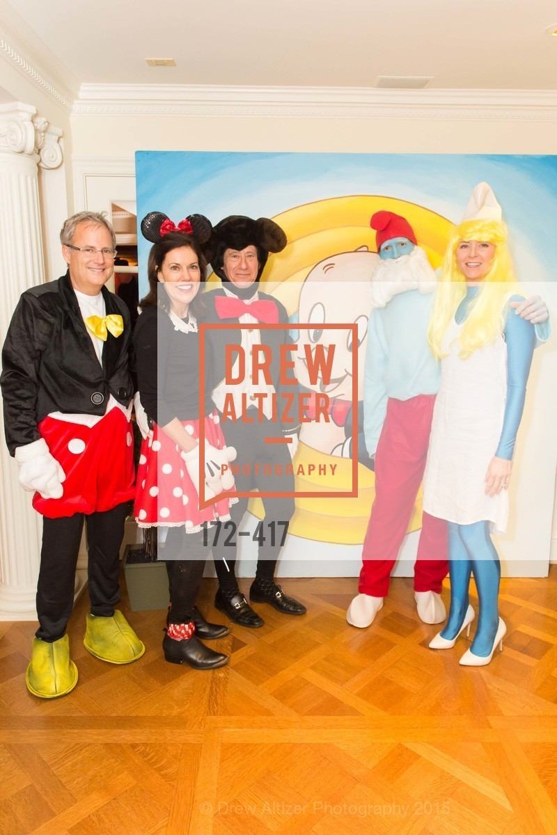Steve Kliener, Bridget Fish, Howard Fish, Todd Stephens, Tori Stephens, Wolfson-Federighi Cartoon Costume Party, Private Residence. 737 Bay Road, October 24th, 2015,Drew Altizer, Drew Altizer Photography, full-service agency, private events, San Francisco photographer, photographer california