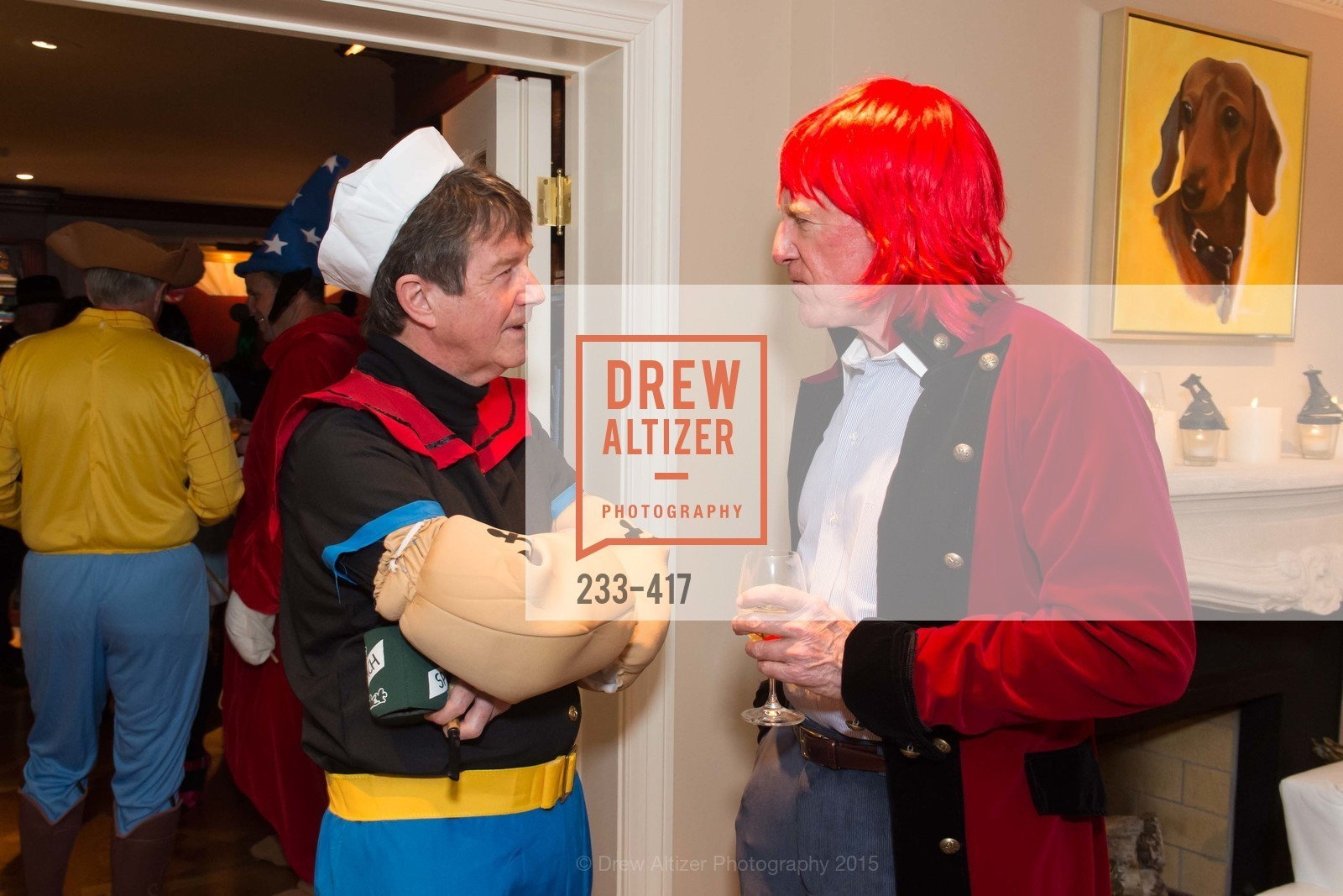 Paul Sagues, Bill Poland, Wolfson-Federighi Cartoon Costume Party, Private Residence. 737 Bay Road, October 24th, 2015,Drew Altizer, Drew Altizer Photography, full-service agency, private events, San Francisco photographer, photographer california