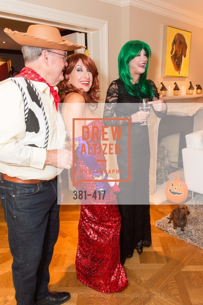 Jim Malott, Toni Wolfson, Mary Poland, Wolfson-Federighi Cartoon Costume Party, Private Residence. 737 Bay Road, October 24th, 2015
