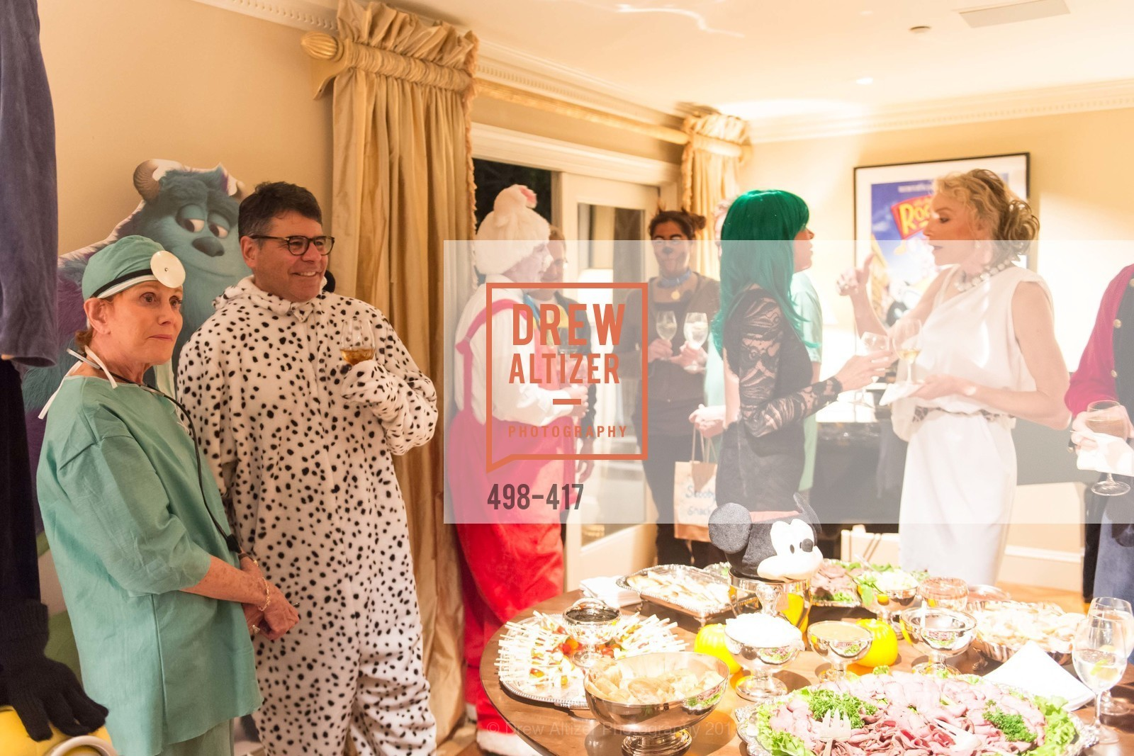Phoebe Cowles, Gary Garabedian, Bob Federighi, Mary Poland, Alisa Burgess-Blajwas, Wolfson-Federighi Cartoon Costume Party, Private Residence. 737 Bay Road, October 24th, 2015,Drew Altizer, Drew Altizer Photography, full-service agency, private events, San Francisco photographer, photographer california