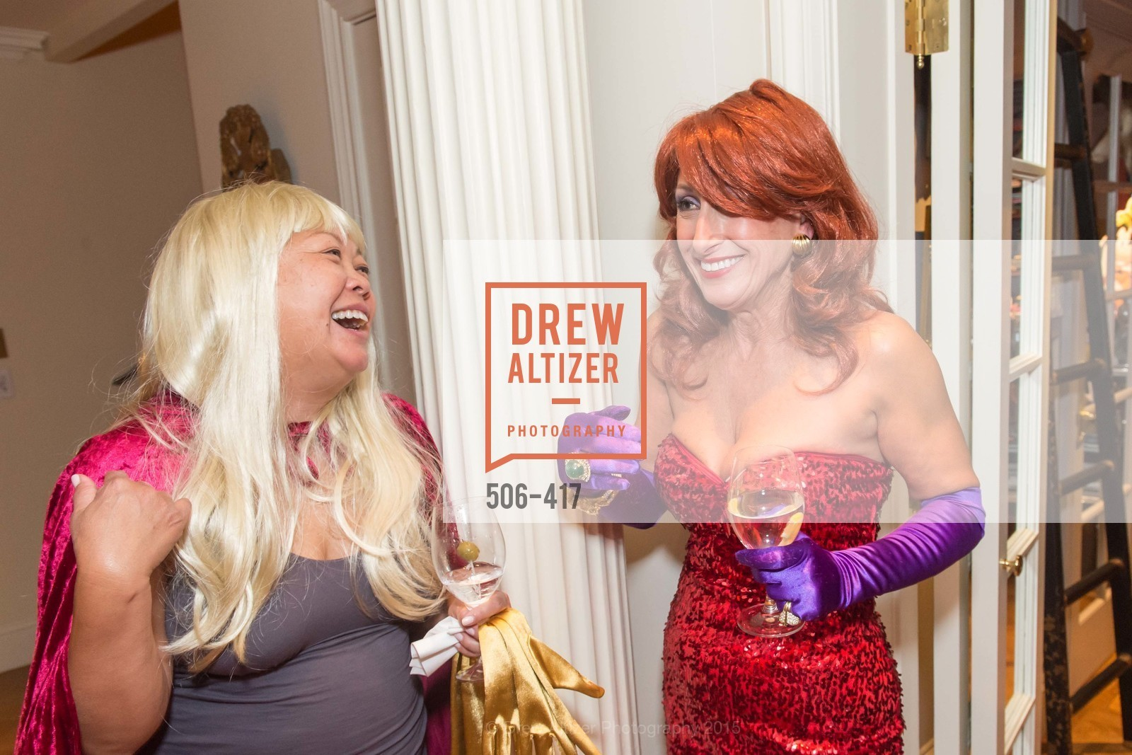Mary Paul Akram, Toni Wolfson, Wolfson-Federighi Cartoon Costume Party, Private Residence. 737 Bay Road, October 24th, 2015,Drew Altizer, Drew Altizer Photography, full-service agency, private events, San Francisco photographer, photographer california