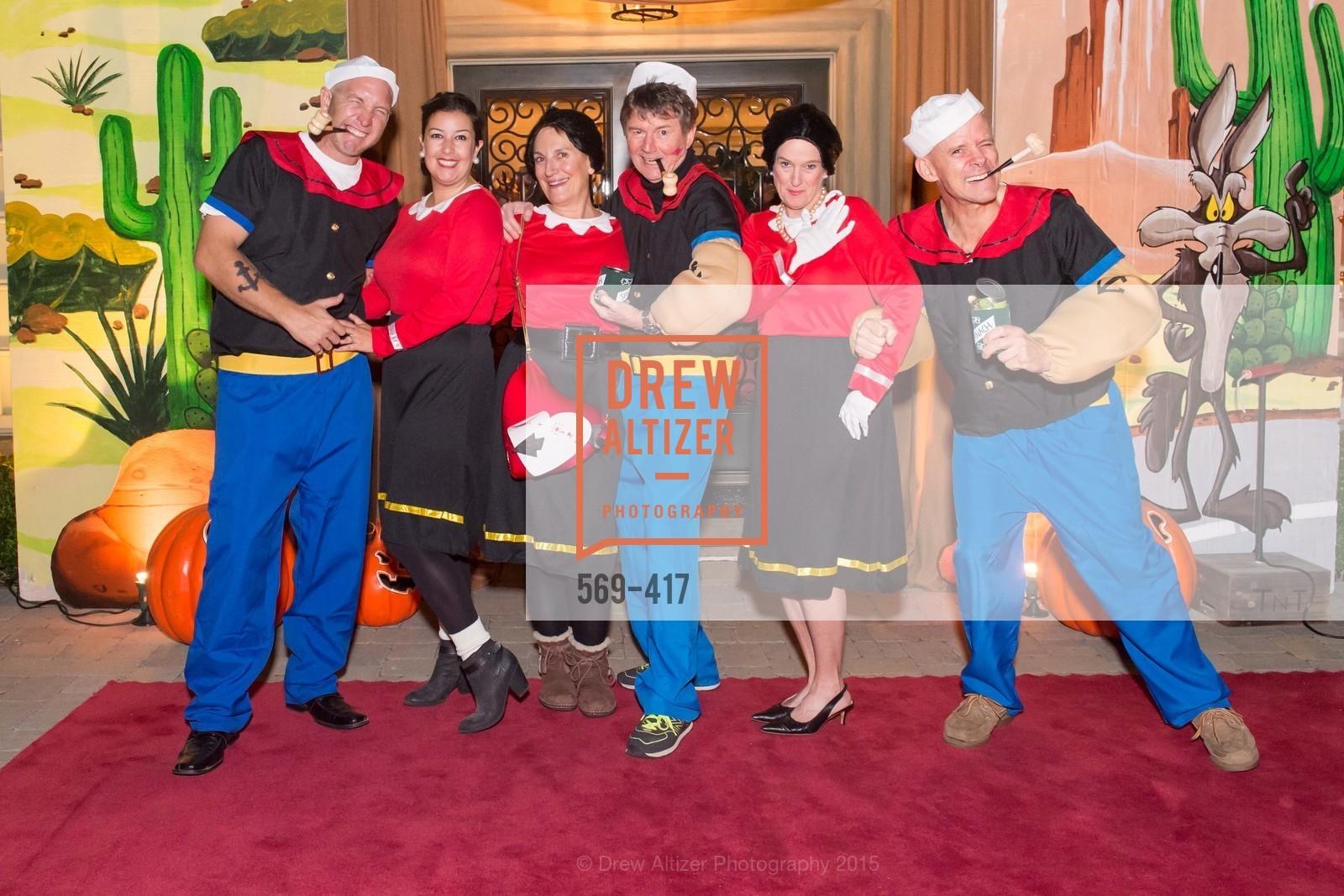 David Tamboury, Nikki Tamboury, Debby Sagues, Paul Sagues, Ann Slucky, Andy Slucky, Wolfson-Federighi Cartoon Costume Party, Private Residence. 737 Bay Road, October 24th, 2015,Drew Altizer, Drew Altizer Photography, full-service event agency, private events, San Francisco photographer, photographer California
