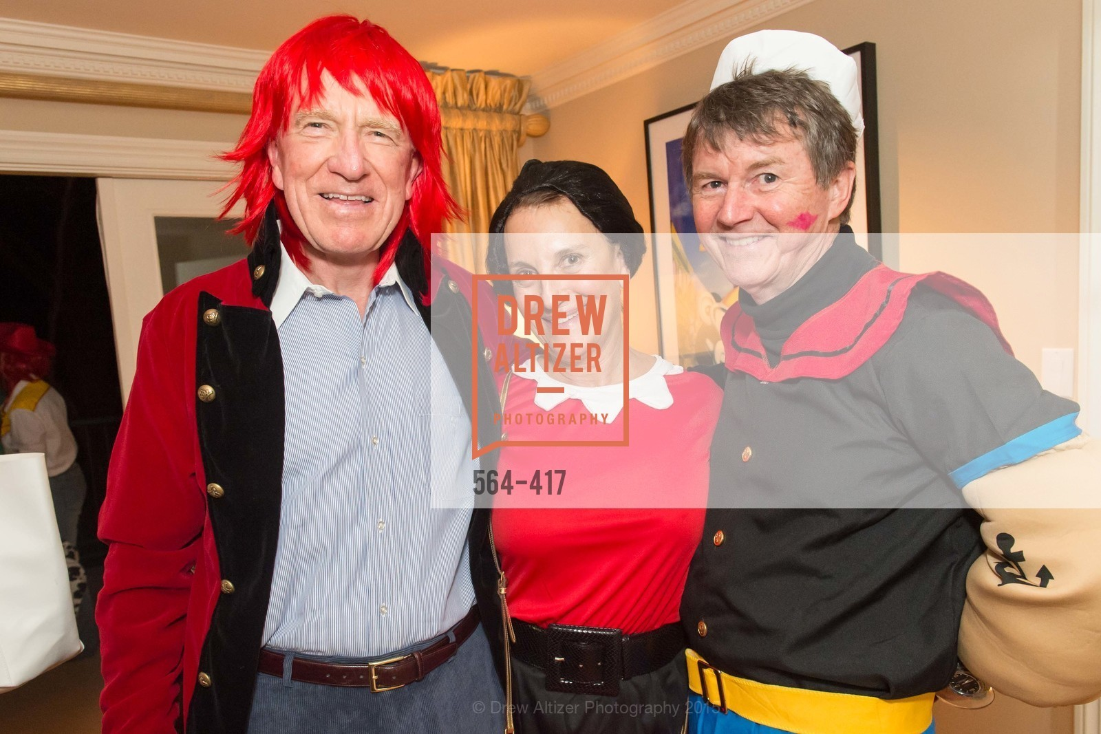 Bill Poland, Debby Sagues, Paul Sagues, Wolfson-Federighi Cartoon Costume Party, Private Residence. 737 Bay Road, October 24th, 2015,Drew Altizer, Drew Altizer Photography, full-service agency, private events, San Francisco photographer, photographer california