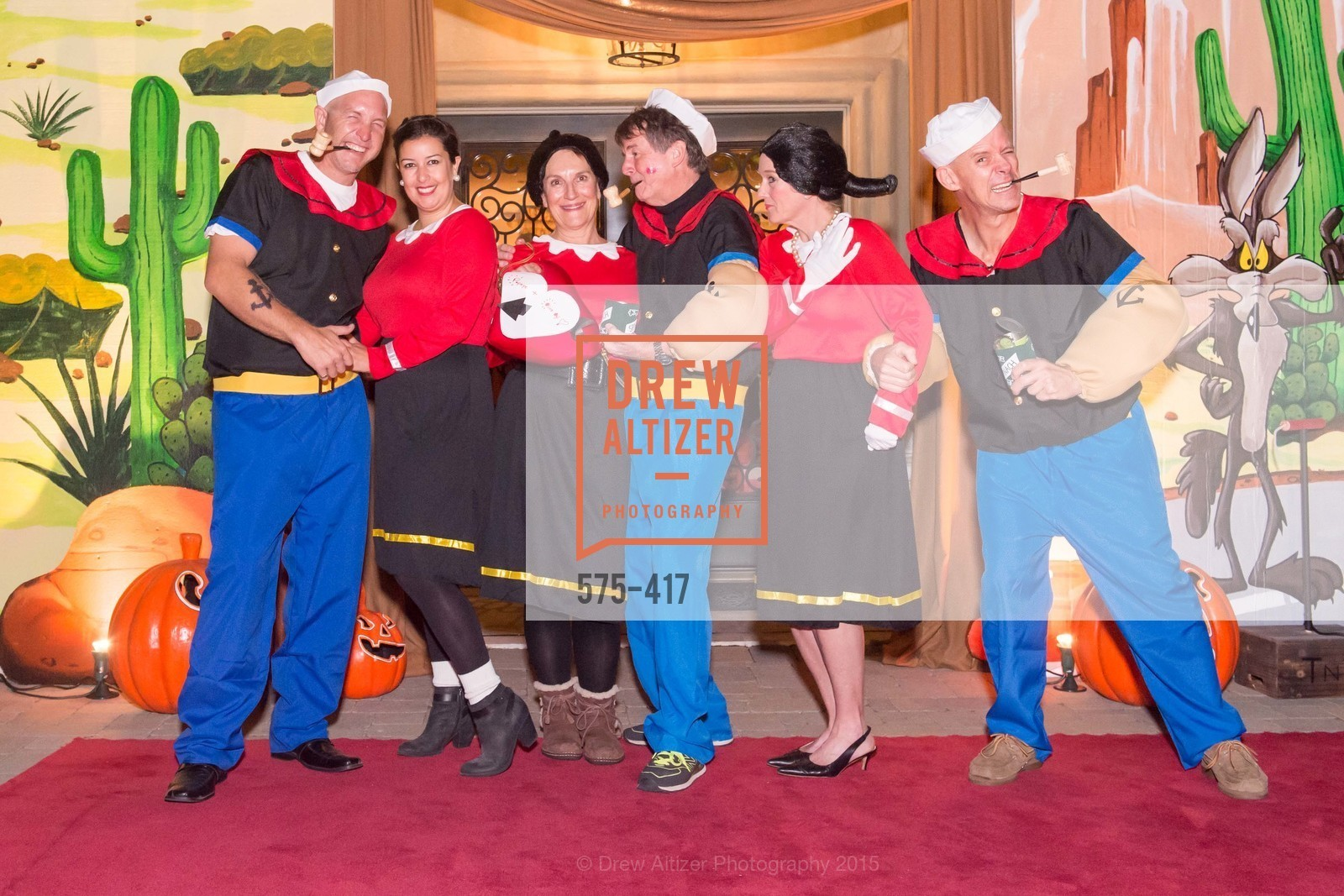David Tamboury, Nikki Tamboury, Debby Sagues, Paul Sagues, Ann Slucky, Andy Slucky, Wolfson-Federighi Cartoon Costume Party, Private Residence. 737 Bay Road, October 24th, 2015,Drew Altizer, Drew Altizer Photography, full-service agency, private events, San Francisco photographer, photographer california