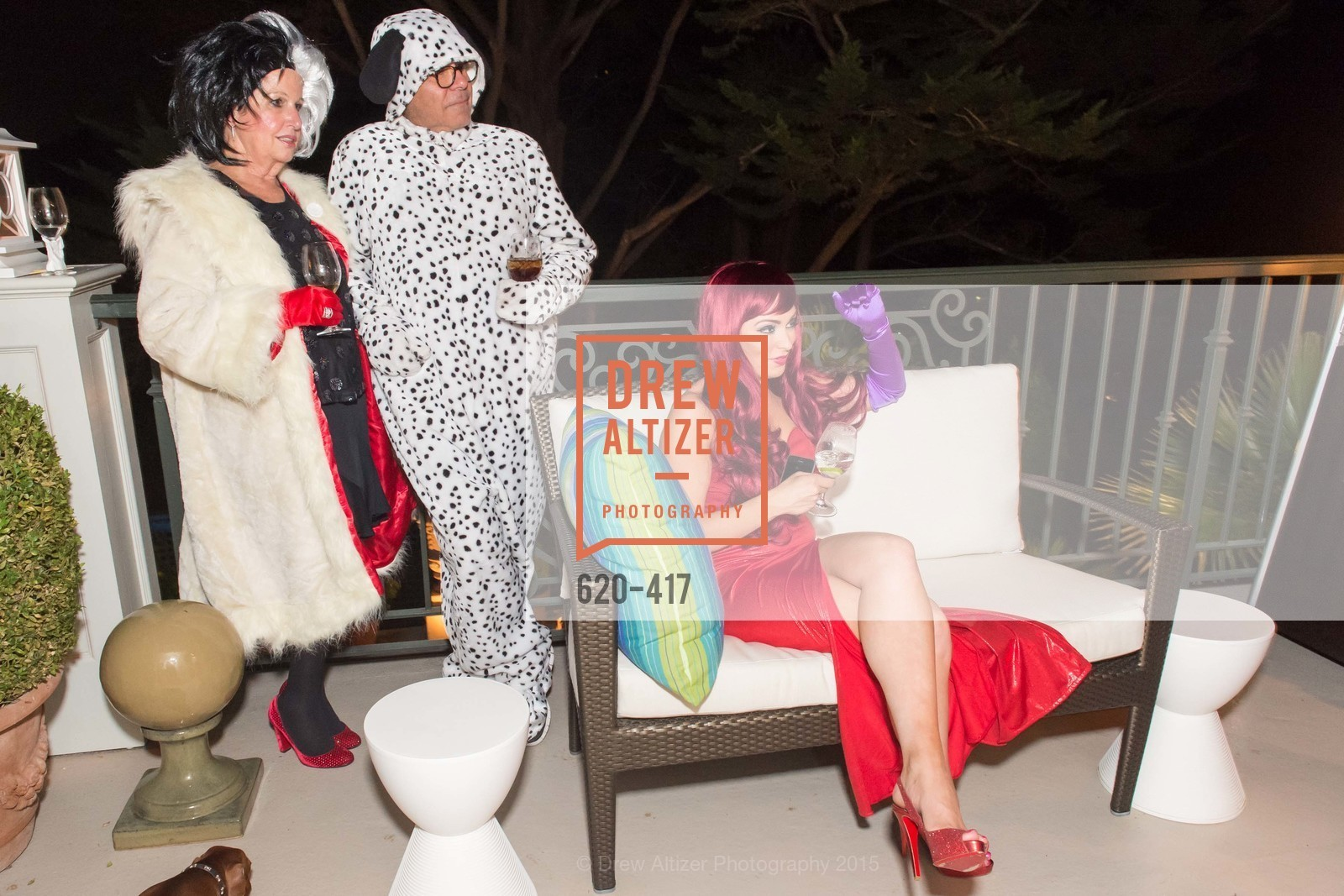 Karen Kubin, Gary Garabedian, Raelyn Gatto, Wolfson-Federighi Cartoon Costume Party, Private Residence. 737 Bay Road, October 24th, 2015,Drew Altizer, Drew Altizer Photography, full-service agency, private events, San Francisco photographer, photographer california