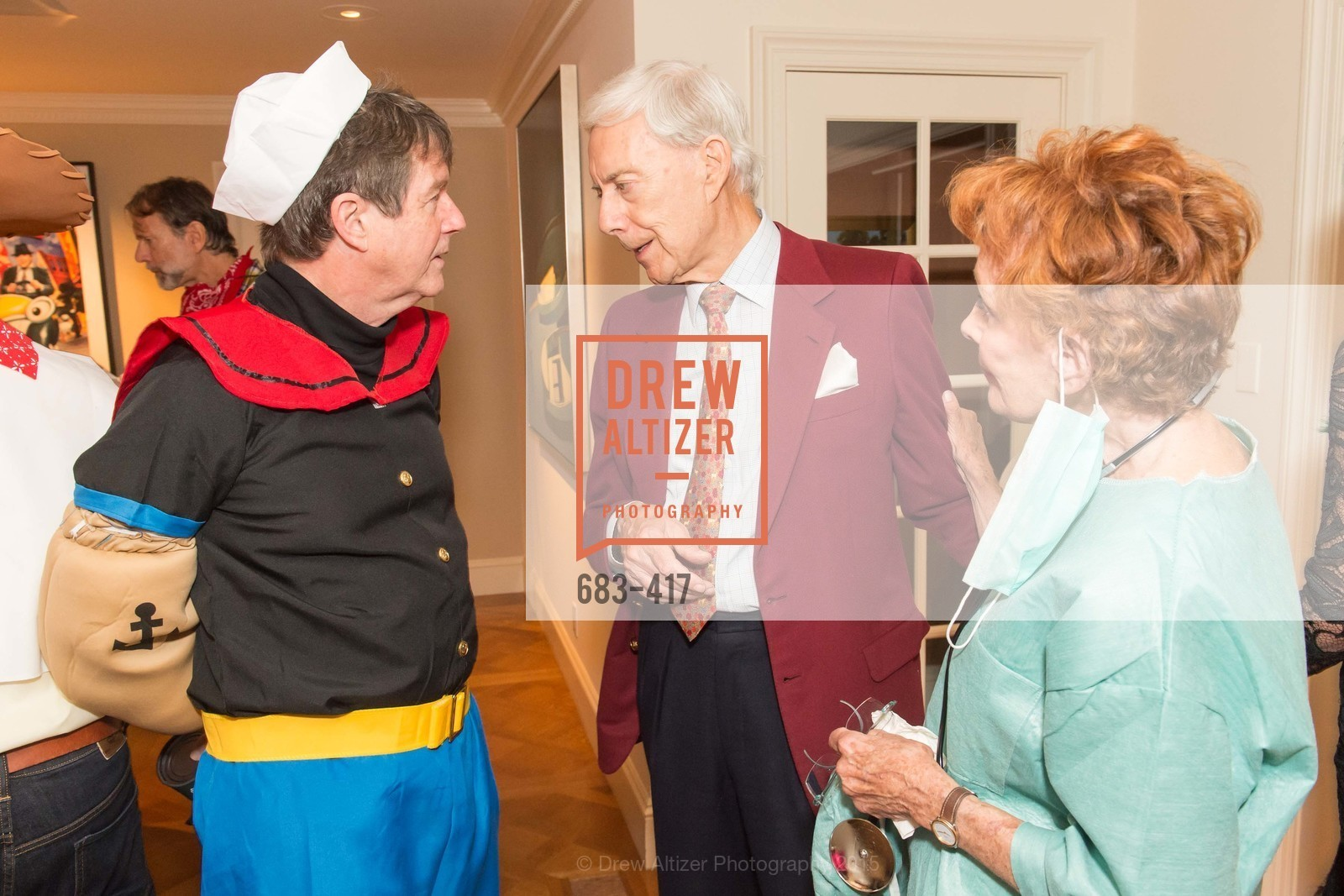 Paul Sagues, Robert Girard, Phoebe Cowles, Wolfson-Federighi Cartoon Costume Party, Private Residence. 737 Bay Road, October 24th, 2015,Drew Altizer, Drew Altizer Photography, full-service agency, private events, San Francisco photographer, photographer california