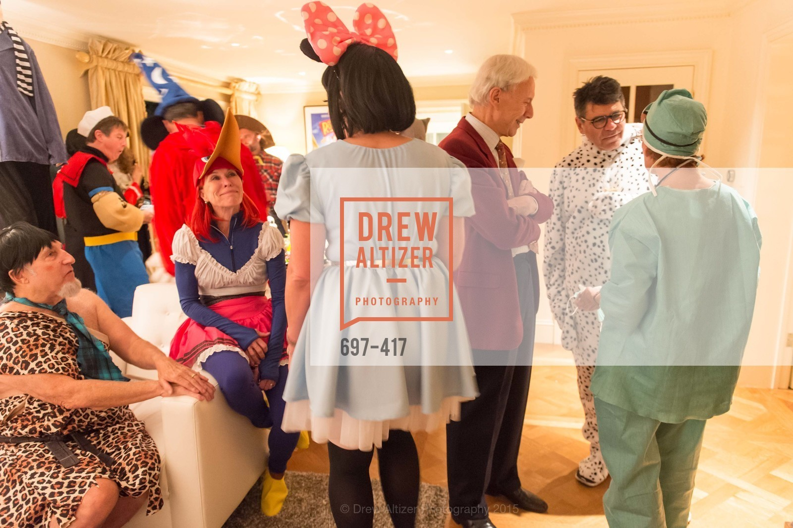 Harold Blajwas, Sheila Nemer, Robert Girard, Gary Garabedian, Wolfson-Federighi Cartoon Costume Party, Private Residence. 737 Bay Road, October 24th, 2015,Drew Altizer, Drew Altizer Photography, full-service agency, private events, San Francisco photographer, photographer california