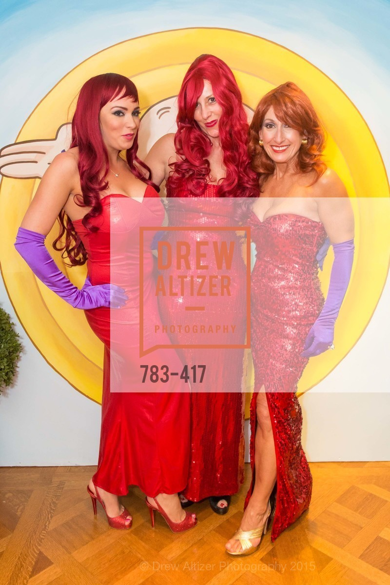 Raelyn Gatto, Ginny Ziegler, Toni Wolfson, Wolfson-Federighi Cartoon Costume Party, Private Residence. 737 Bay Road, October 24th, 2015,Drew Altizer, Drew Altizer Photography, full-service agency, private events, San Francisco photographer, photographer california