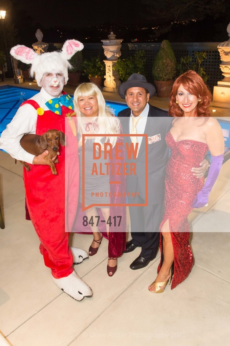 Bob Federighi, Mary Paul Akram, Steve Akram, Toni Wolfson, Wolfson-Federighi Cartoon Costume Party, Private Residence. 737 Bay Road, October 24th, 2015,Drew Altizer, Drew Altizer Photography, full-service agency, private events, San Francisco photographer, photographer california