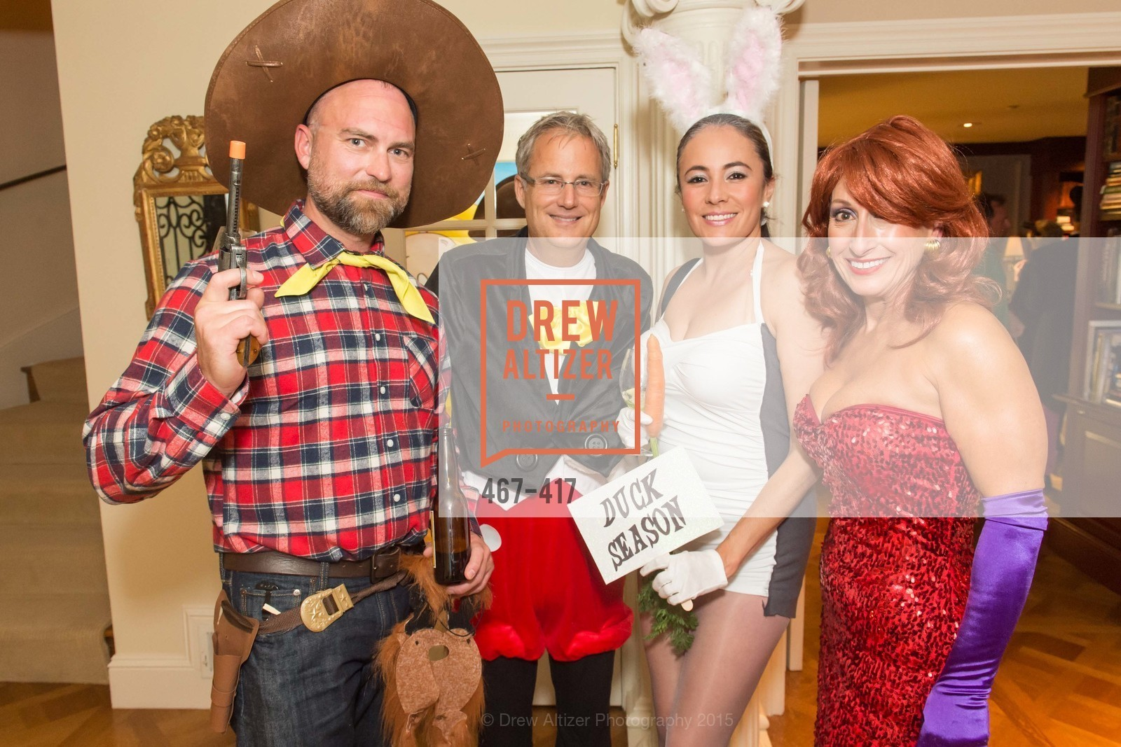 Christopher Key, Steve Kliener, Marcela Bernal, Toni Wolfson, Wolfson-Federighi Cartoon Costume Party, Private Residence. 737 Bay Road, October 24th, 2015,Drew Altizer, Drew Altizer Photography, full-service agency, private events, San Francisco photographer, photographer california