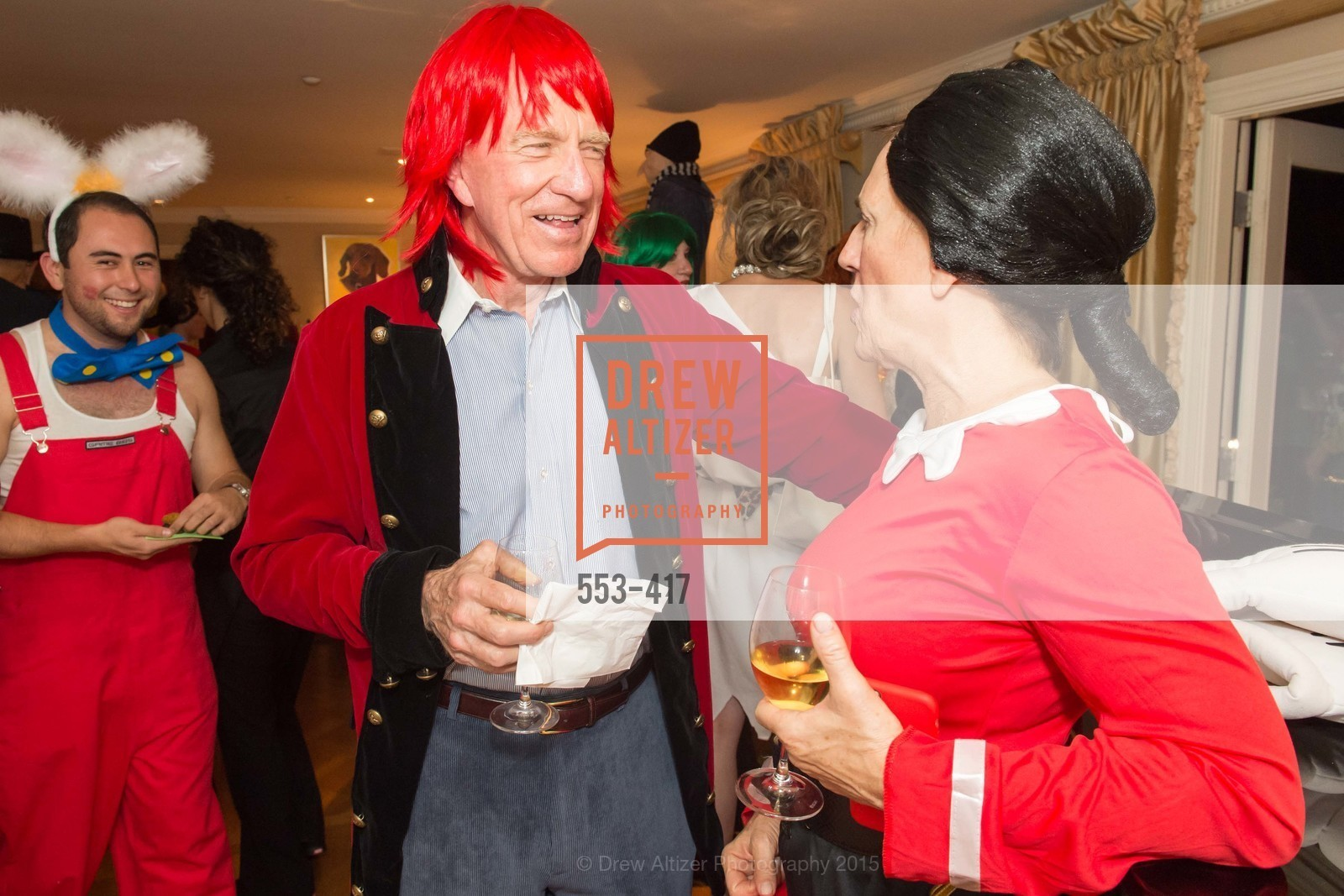Bill Poland, Debby Sagues, Wolfson-Federighi Cartoon Costume Party, Private Residence. 737 Bay Road, October 24th, 2015,Drew Altizer, Drew Altizer Photography, full-service agency, private events, San Francisco photographer, photographer california