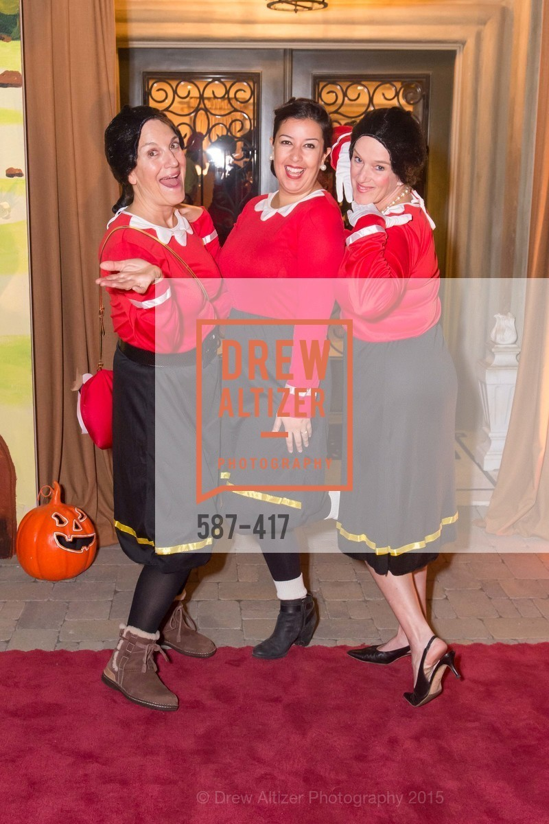 Debby Sagues, Nikki Tamboury, Ann Slucky, Wolfson-Federighi Cartoon Costume Party, Private Residence. 737 Bay Road, October 24th, 2015,Drew Altizer, Drew Altizer Photography, full-service agency, private events, San Francisco photographer, photographer california