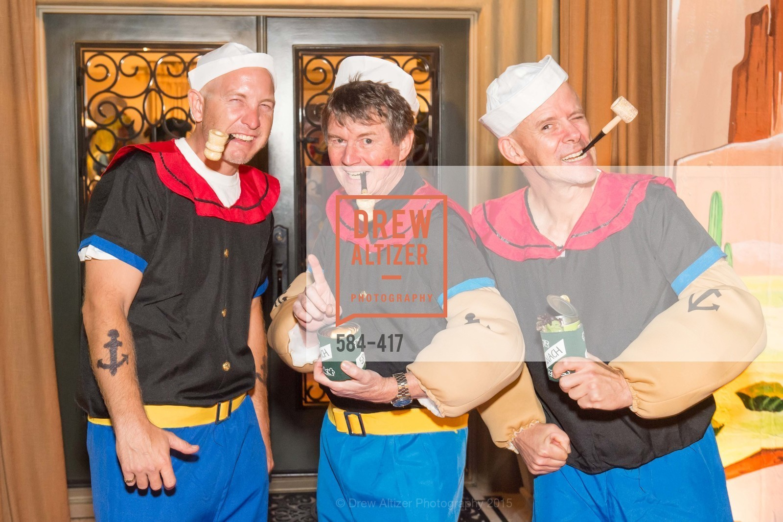 David Tamboury, Paul Sagues, Andy Slucky, Wolfson-Federighi Cartoon Costume Party, Private Residence. 737 Bay Road, October 24th, 2015,Drew Altizer, Drew Altizer Photography, full-service agency, private events, San Francisco photographer, photographer california
