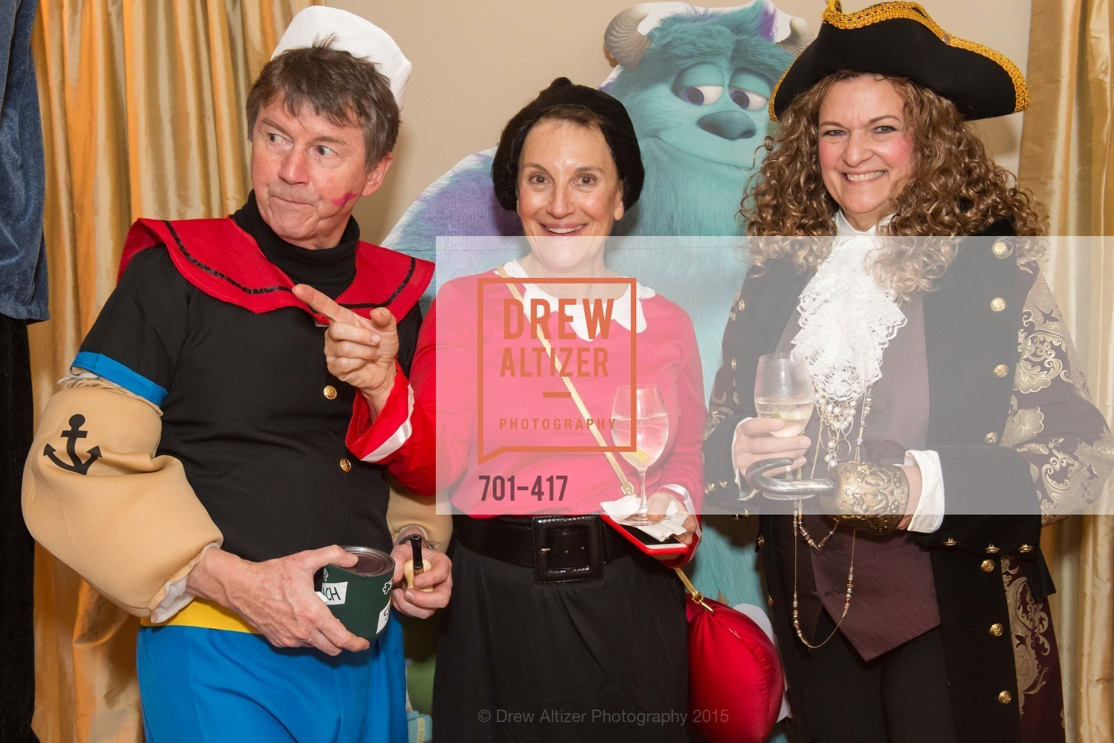 Paul Sagues, Debby Sagues, Susan Malott, Wolfson-Federighi Cartoon Costume Party, Private Residence. 737 Bay Road, October 24th, 2015,Drew Altizer, Drew Altizer Photography, full-service agency, private events, San Francisco photographer, photographer california