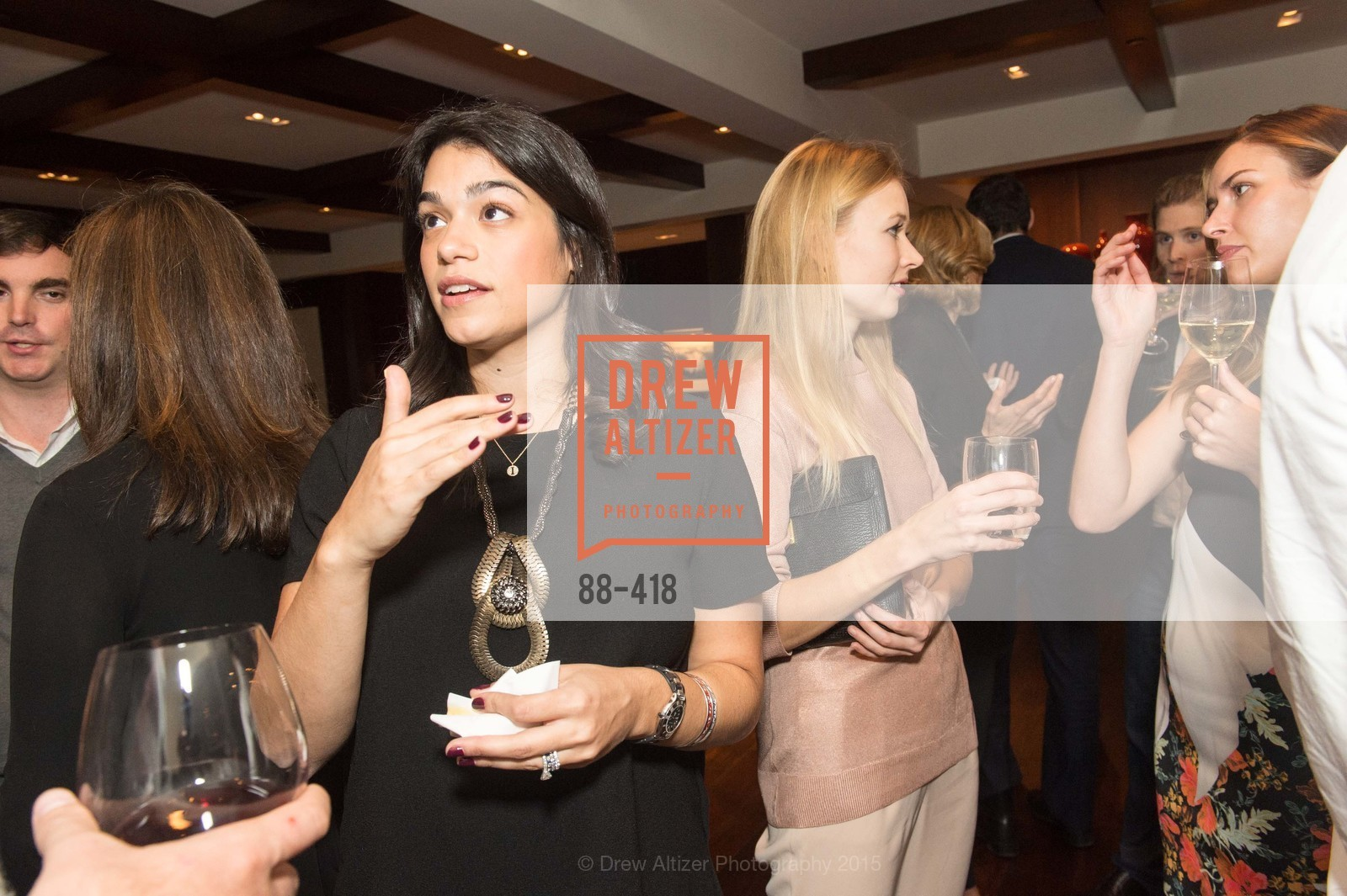 Rebecca Rathael, Elena Soboleva, Artsy and Sotheby's Village Pub Dinner, Village Pub, October 27th, 2015,Drew Altizer, Drew Altizer Photography, full-service agency, private events, San Francisco photographer, photographer california