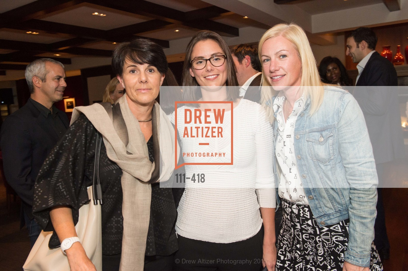 Kristin Duval, Justine Chaussom, Elizabeth Sullivan, Artsy and Sotheby's Village Pub Dinner, Village Pub, October 27th, 2015,Drew Altizer, Drew Altizer Photography, full-service event agency, private events, San Francisco photographer, photographer California