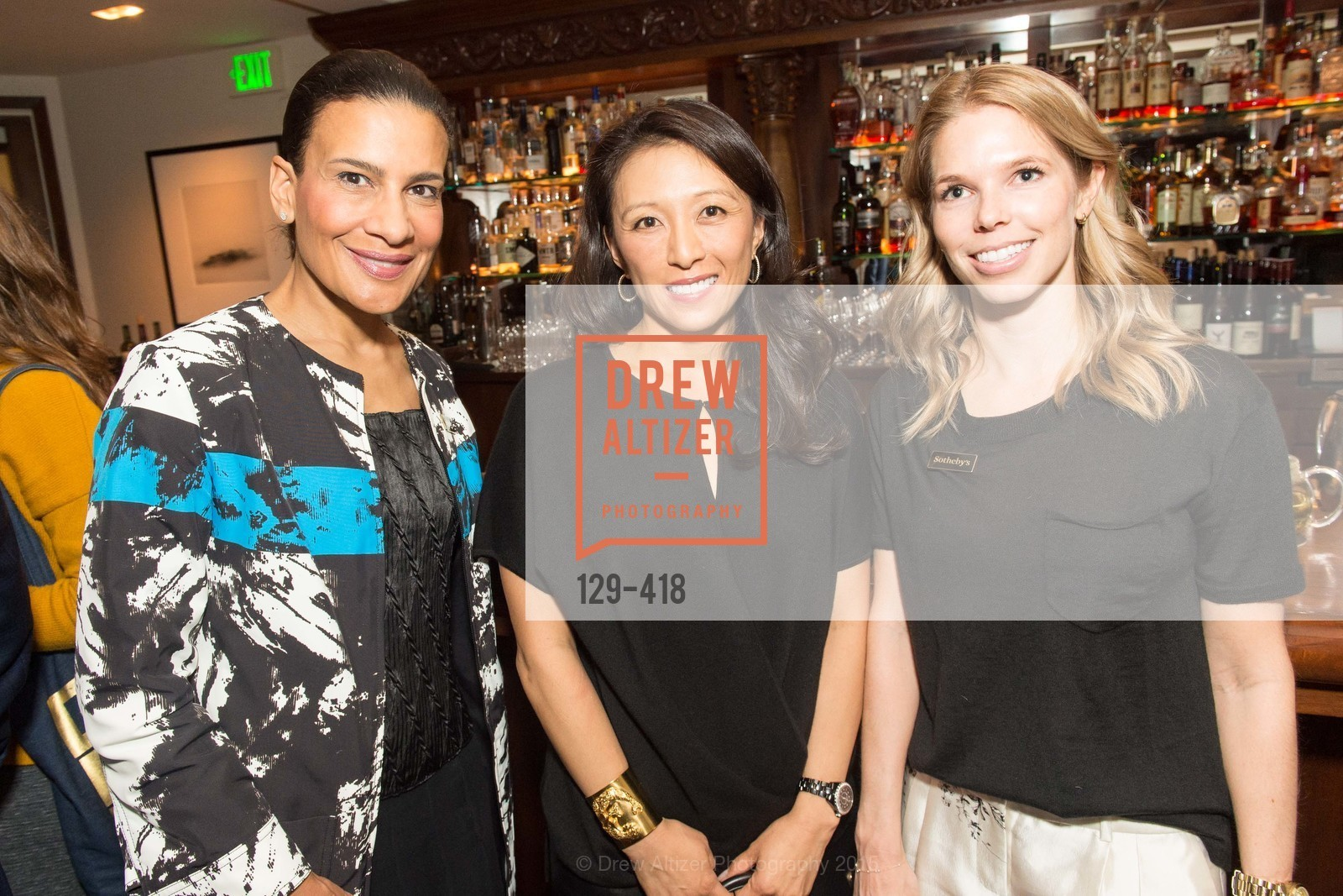 Andrea Fiuczynsky, Cori Bates, Courtney Kremers, Artsy and Sotheby's Village Pub Dinner, Village Pub, October 27th, 2015