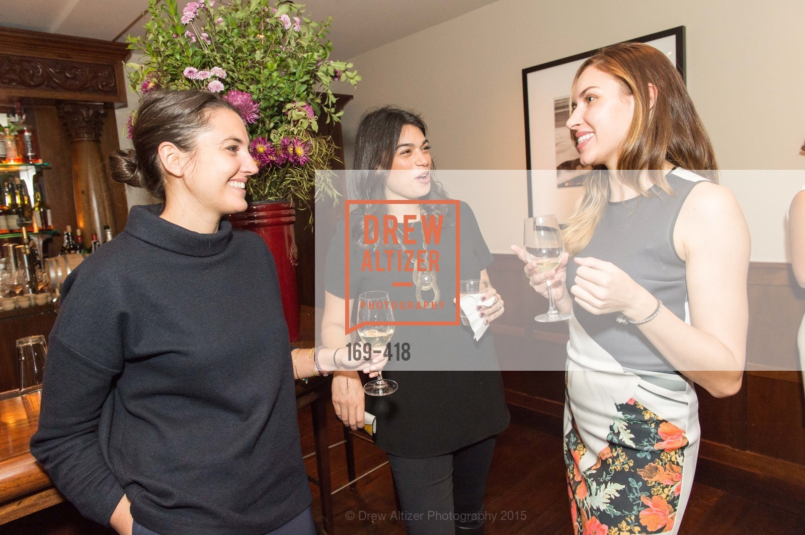 Michelle Finocchi, Rebecca Rathael, Felicity Conrad, Artsy and Sotheby's Village Pub Dinner, Village Pub, October 27th, 2015,Drew Altizer, Drew Altizer Photography, full-service agency, private events, San Francisco photographer, photographer california