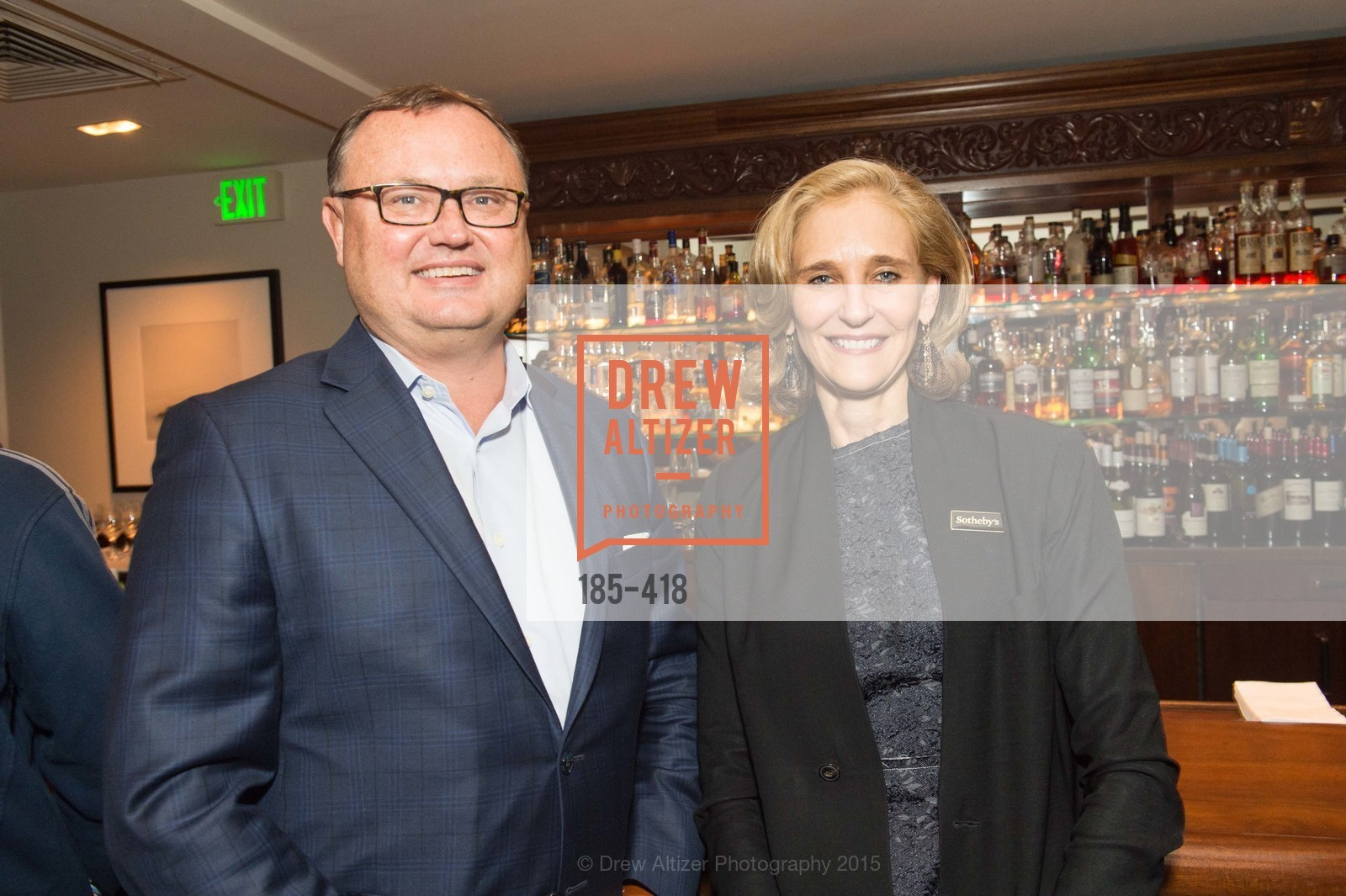 Chuck Strickler, Jennifer Biederbeck, Artsy and Sotheby's Village Pub Dinner, Village Pub, October 27th, 2015,Drew Altizer, Drew Altizer Photography, full-service agency, private events, San Francisco photographer, photographer california