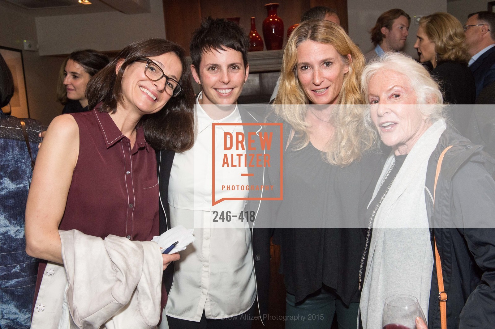 Sarah Thornton, Jessica Silverman, Melinda Johnson, Dasi Herz, Artsy and Sotheby's Village Pub Dinner, Village Pub, October 27th, 2015,Drew Altizer, Drew Altizer Photography, full-service agency, private events, San Francisco photographer, photographer california