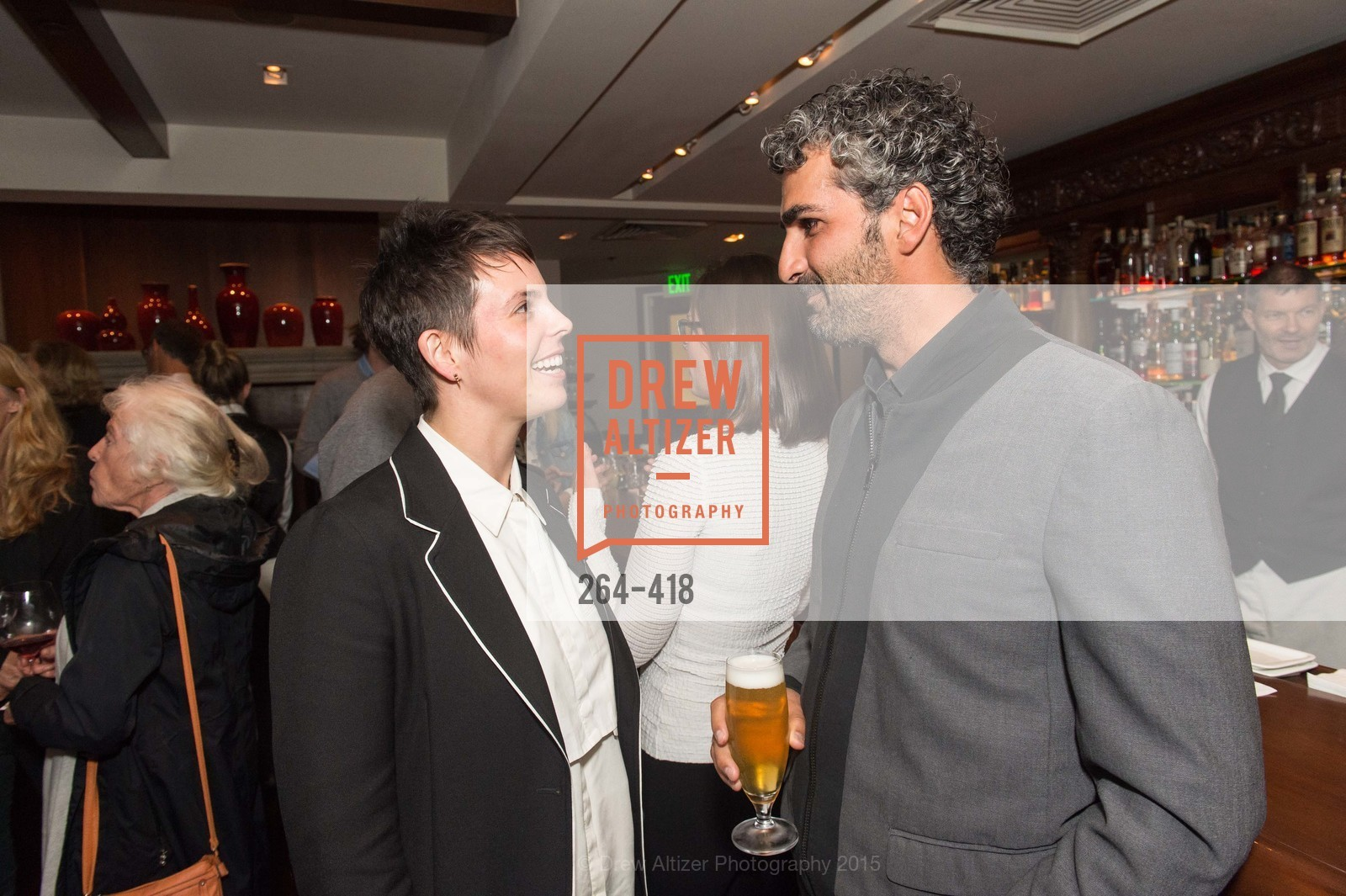 Jessica Silverman, Amir Mortazavi, Artsy and Sotheby's Village Pub Dinner, Village Pub, October 27th, 2015,Drew Altizer, Drew Altizer Photography, full-service agency, private events, San Francisco photographer, photographer california