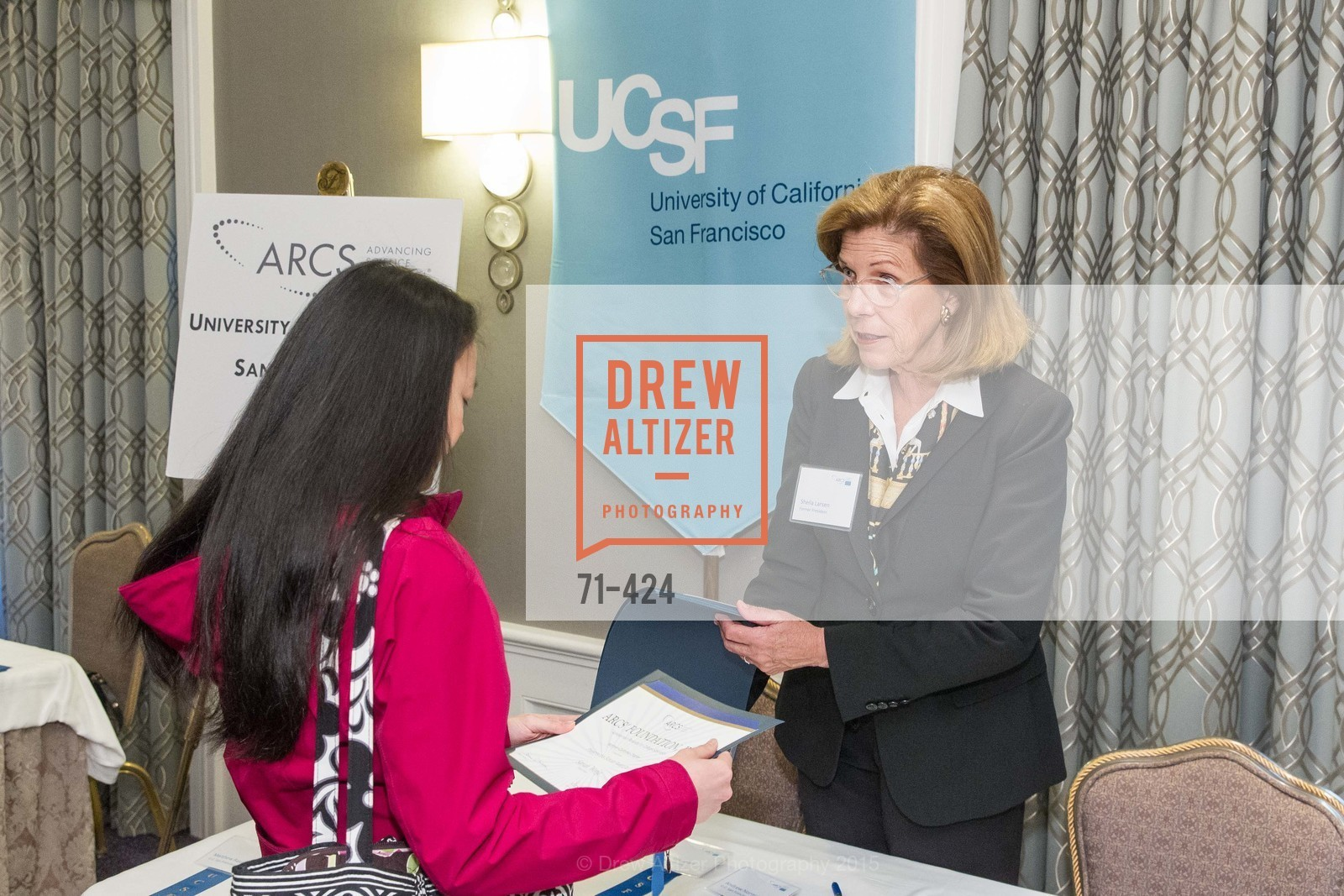 Sheila Larsen, 2015 ARCS Foundation Scholar Awards Luncheon, The Fairmont San Francisco. 950 Mason St, October 29th, 2015,Drew Altizer, Drew Altizer Photography, full-service agency, private events, San Francisco photographer, photographer california