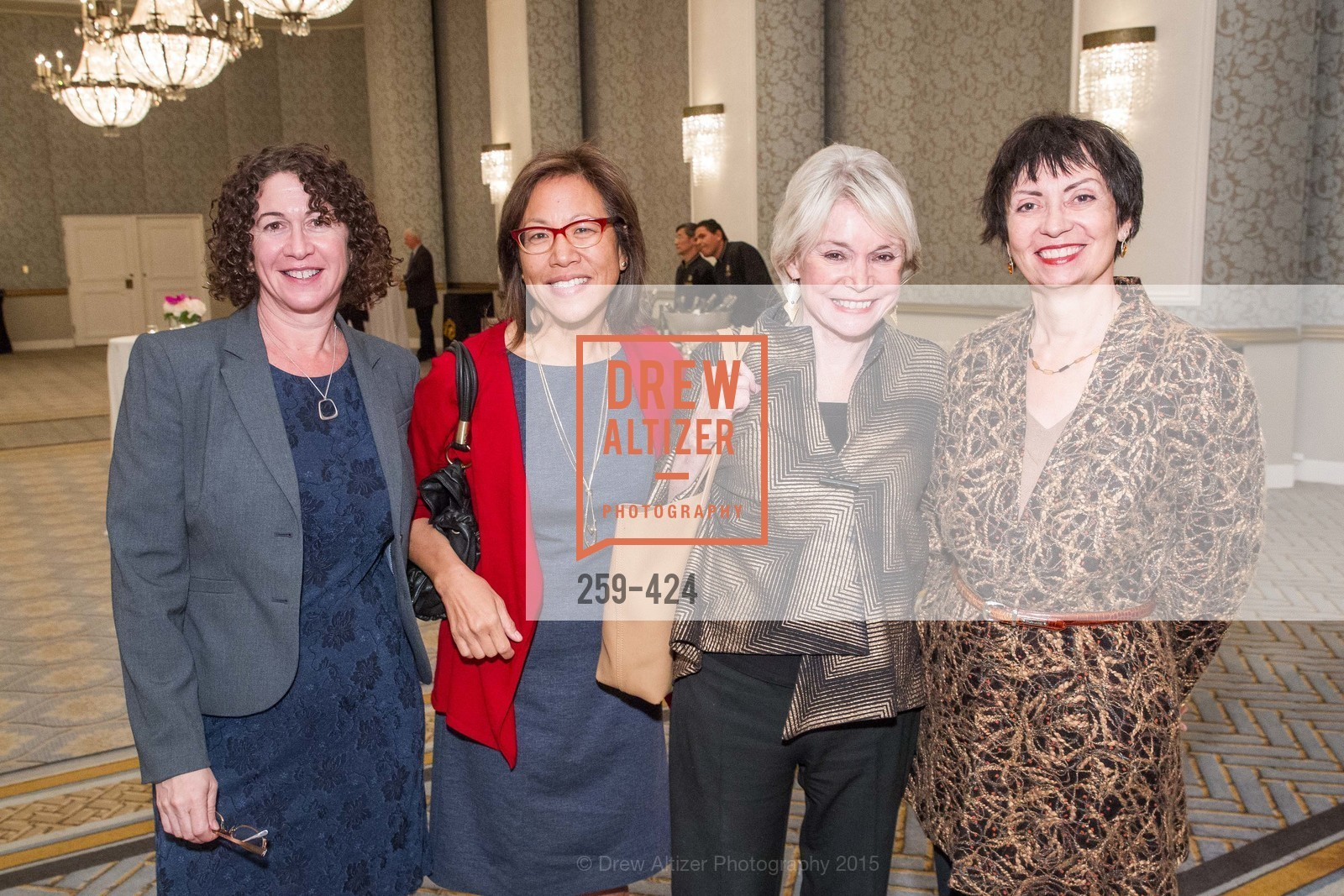 Liz Moress, Cora Yang, Marianne Mason, Sharon Page-Medrich, 2015 ARCS Foundation Scholar Awards Luncheon, The Fairmont San Francisco. 950 Mason St, October 29th, 2015,Drew Altizer, Drew Altizer Photography, full-service agency, private events, San Francisco photographer, photographer california