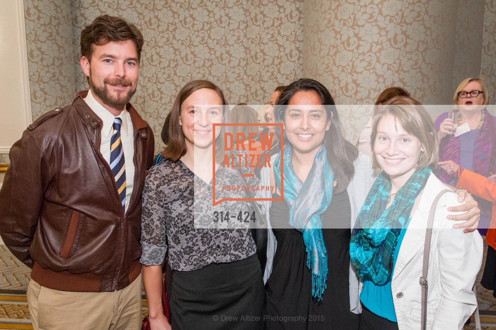 Matt Whalen, Amber Schedlbauer, Millie Copara, Abby Laman-Maharg, 2015 ARCS Foundation Scholar Awards Luncheon, The Fairmont San Francisco. 950 Mason St, October 29th, 2015,Drew Altizer, Drew Altizer Photography, full-service agency, private events, San Francisco photographer, photographer california