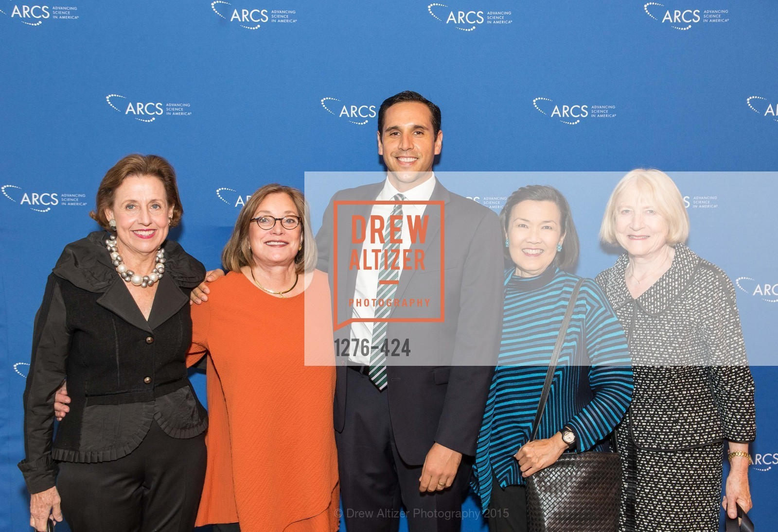Pam Elliott, Tina Hinckley, Tim Melano, Sharon Woo, Betsy Stafford, 2015 ARCS Foundation Scholar Awards Luncheon, The Fairmont San Francisco. 950 Mason St, October 29th, 2015