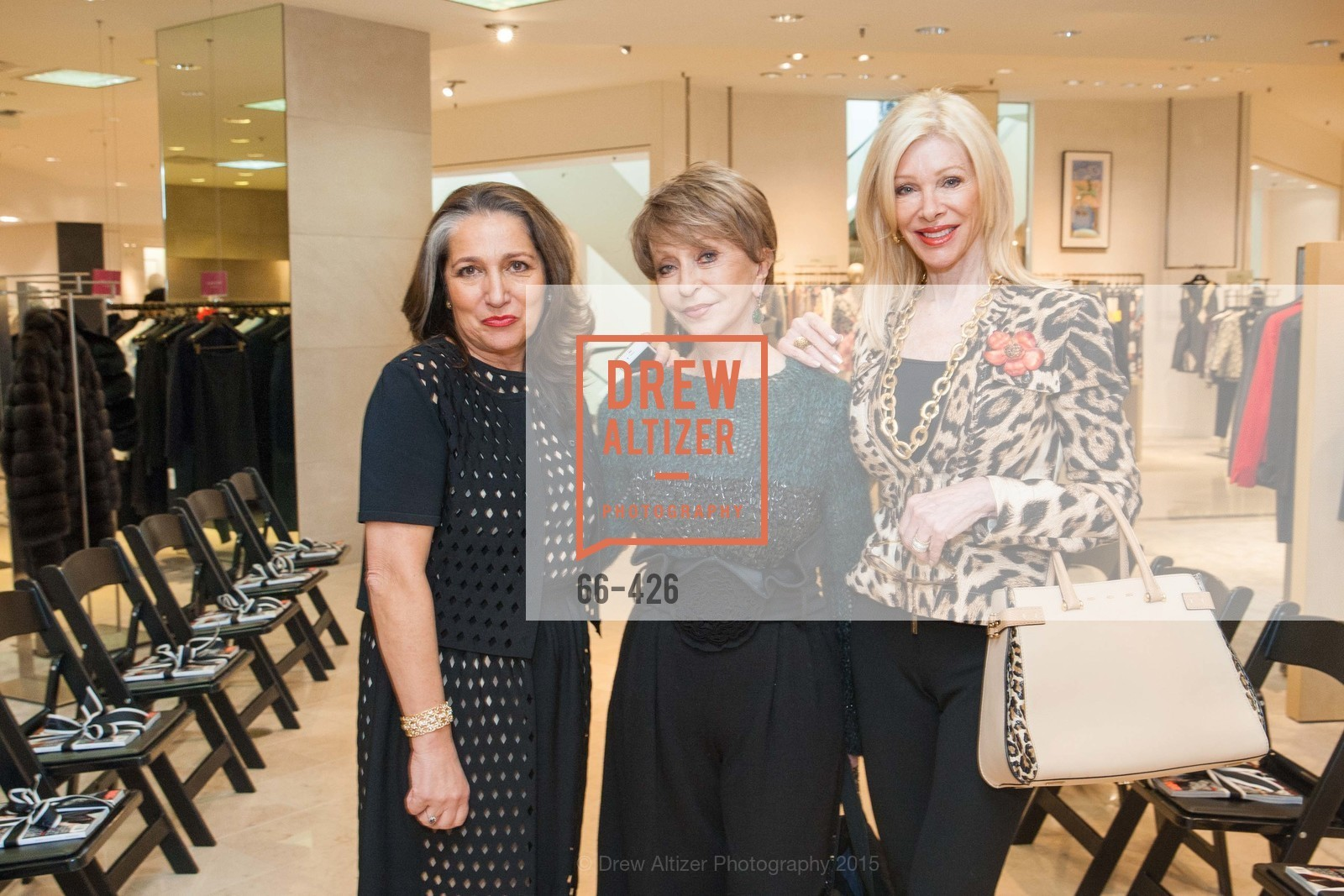 Josephine Kathan, Roberta Sherman, Pamala Deikel, Rindi at Saks Fur Salon, Saks Fifth Avenue, Fur Salon, October 29th, 2015