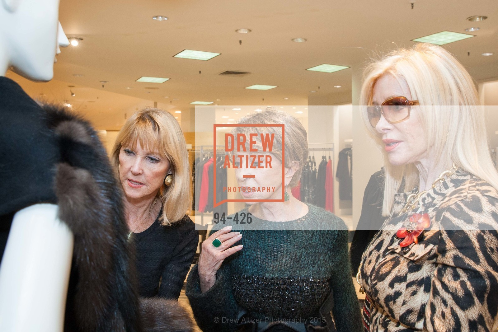 Mary Lou Maier, Roberta Sherman, Pamala Deikel, Rindi at Saks Fur Salon, Saks Fifth Avenue, Fur Salon, October 29th, 2015,Drew Altizer, Drew Altizer Photography, full-service agency, private events, San Francisco photographer, photographer california