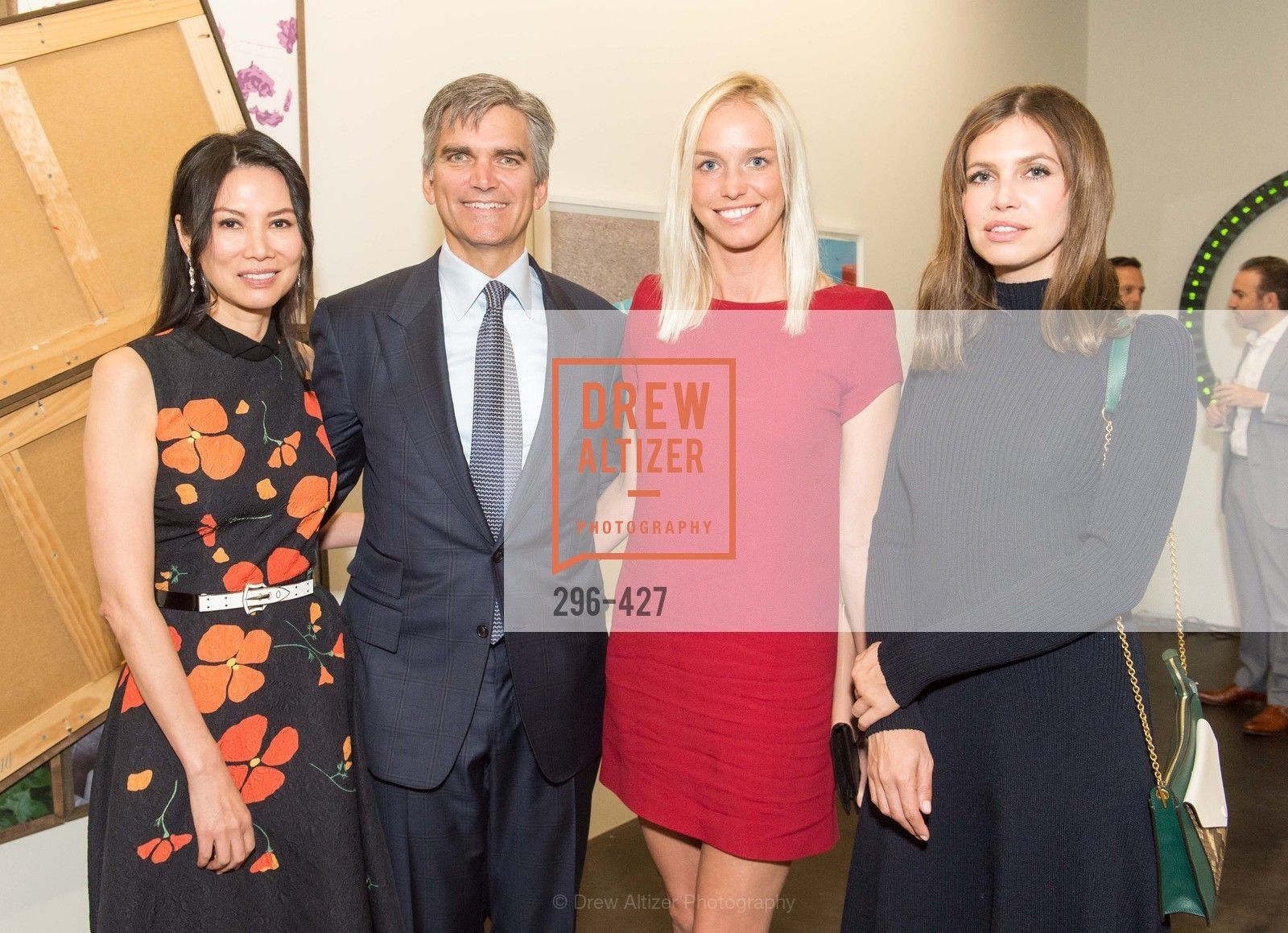 Wendi Murdoch, Tad Smith, Lucy Paige, Dasha Zhukova, Artsy and Sotheby's Dinner at Fused, Fused, October 29th, 2015,Drew Altizer, Drew Altizer Photography, full-service event agency, private events, San Francisco photographer, photographer California