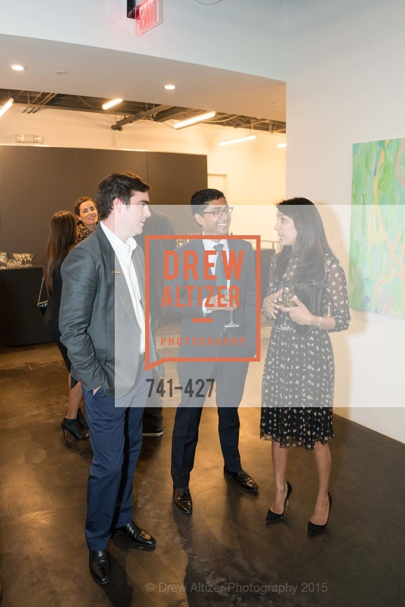 Cahrles Moffett, Ravin Agrawal, Alka Agrawal, Artsy and Sotheby's Dinner at Fused, Fused, October 29th, 2015,Drew Altizer, Drew Altizer Photography, full-service agency, private events, San Francisco photographer, photographer california