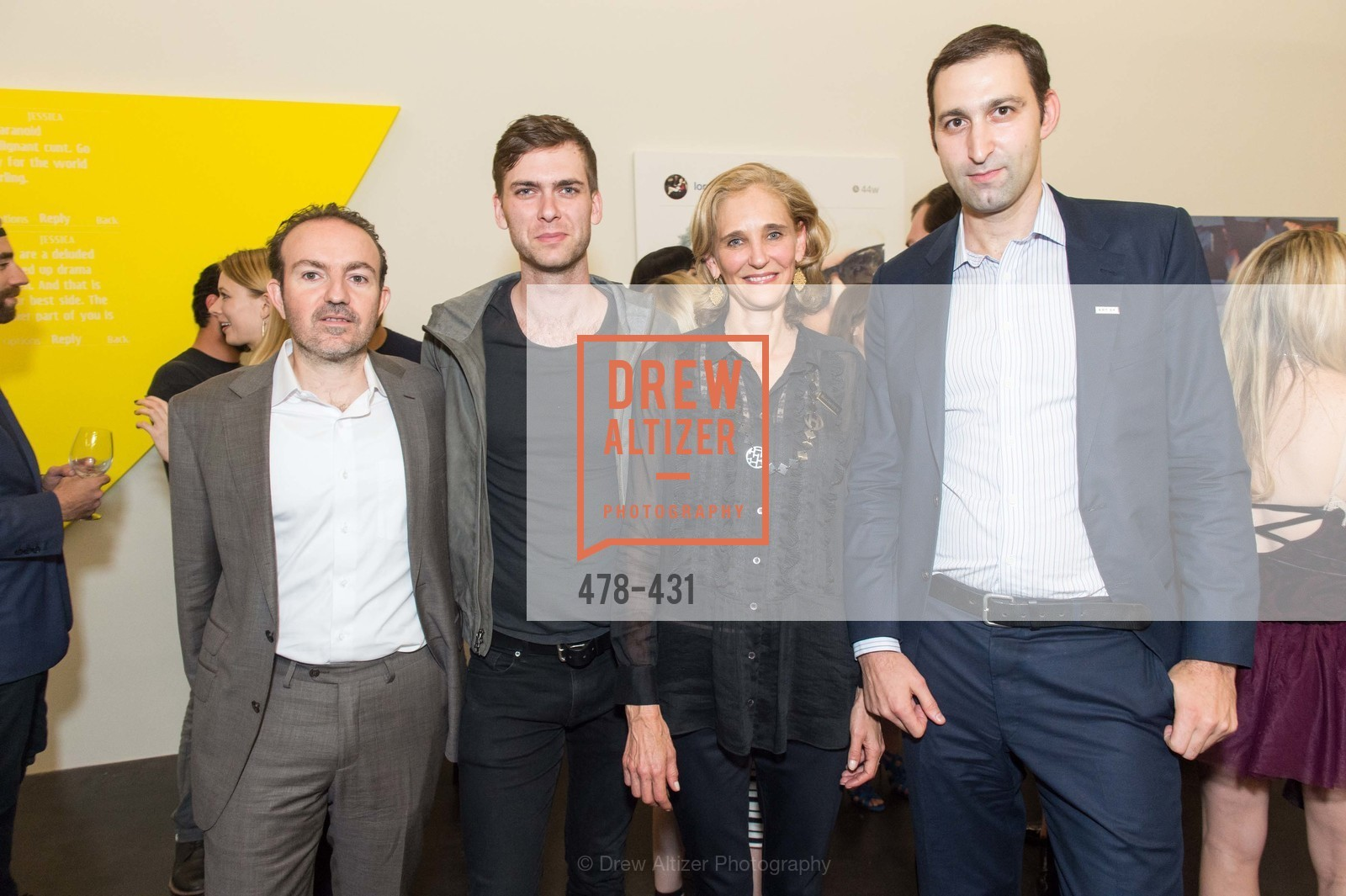 Sebastian Cwilich, Carter Cleveland, Jennifer Biederbck, Daniel Doubrovkine, Artsy + Sotheby's Closing Party, Fused. 1401 16th Street, October 30th, 2015