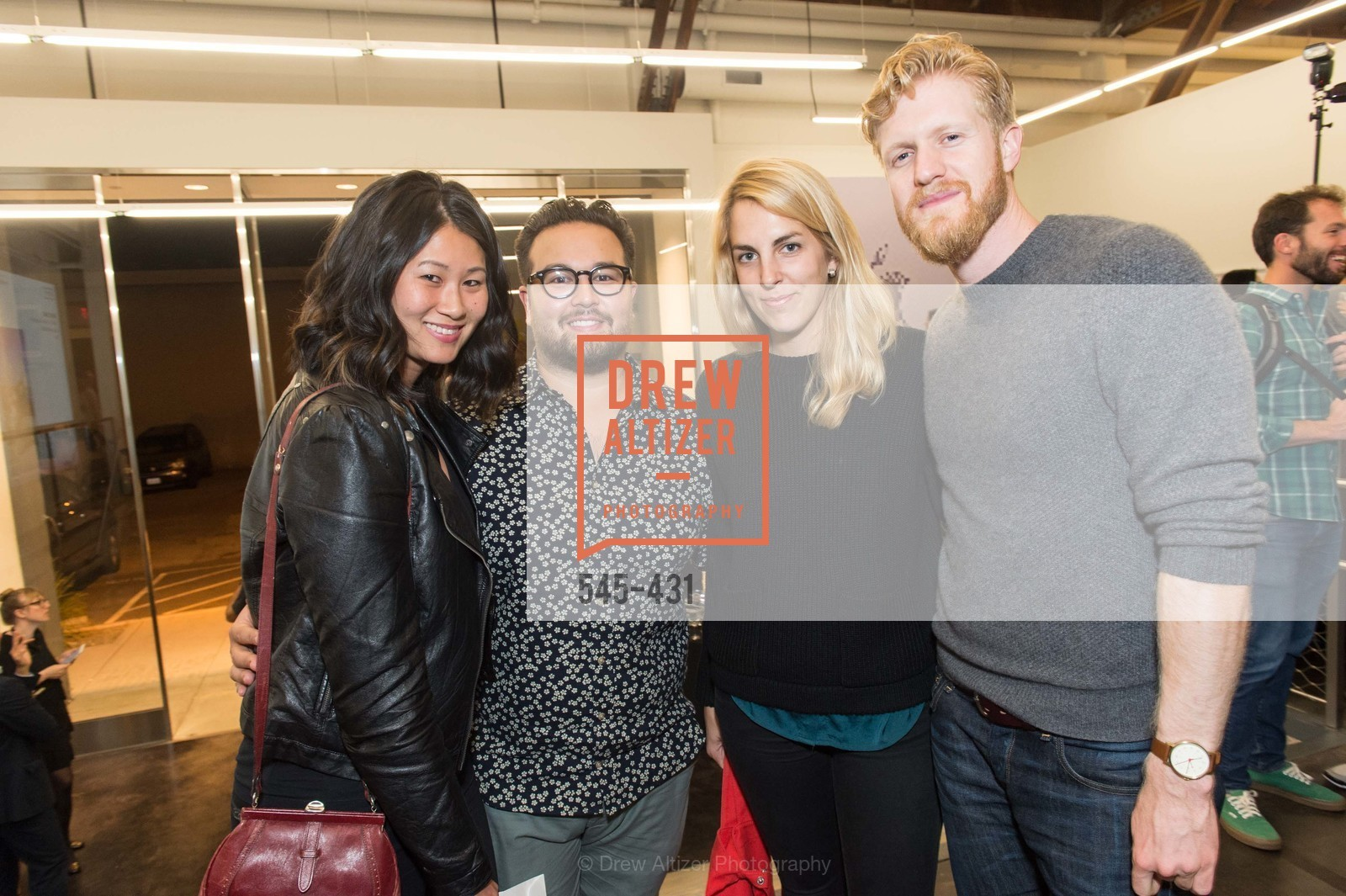 Stephanie Hong, Julian Scharman, Hadley Lyman, Jared Graf, Artsy + Sotheby's Closing Party, Fused. 1401 16th Street, October 30th, 2015