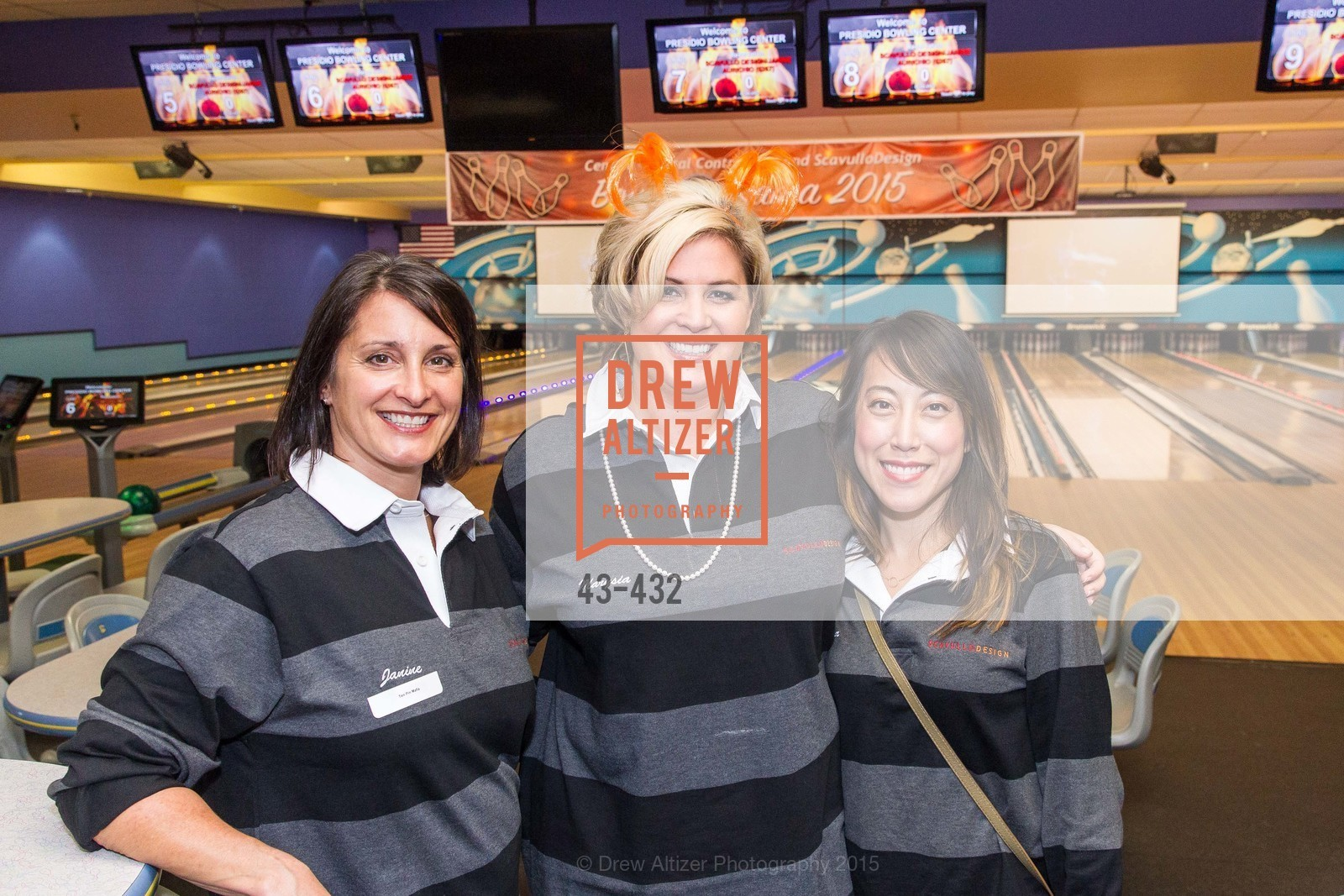 Janine Aurichio, Marysia Rybock, Alisa Tanphanich, ScavulloDesign Centric Builders Bowling Party, Presidio Bowl. 93 Moraga Ave, October 29th, 2015,Drew Altizer, Drew Altizer Photography, full-service agency, private events, San Francisco photographer, photographer california
