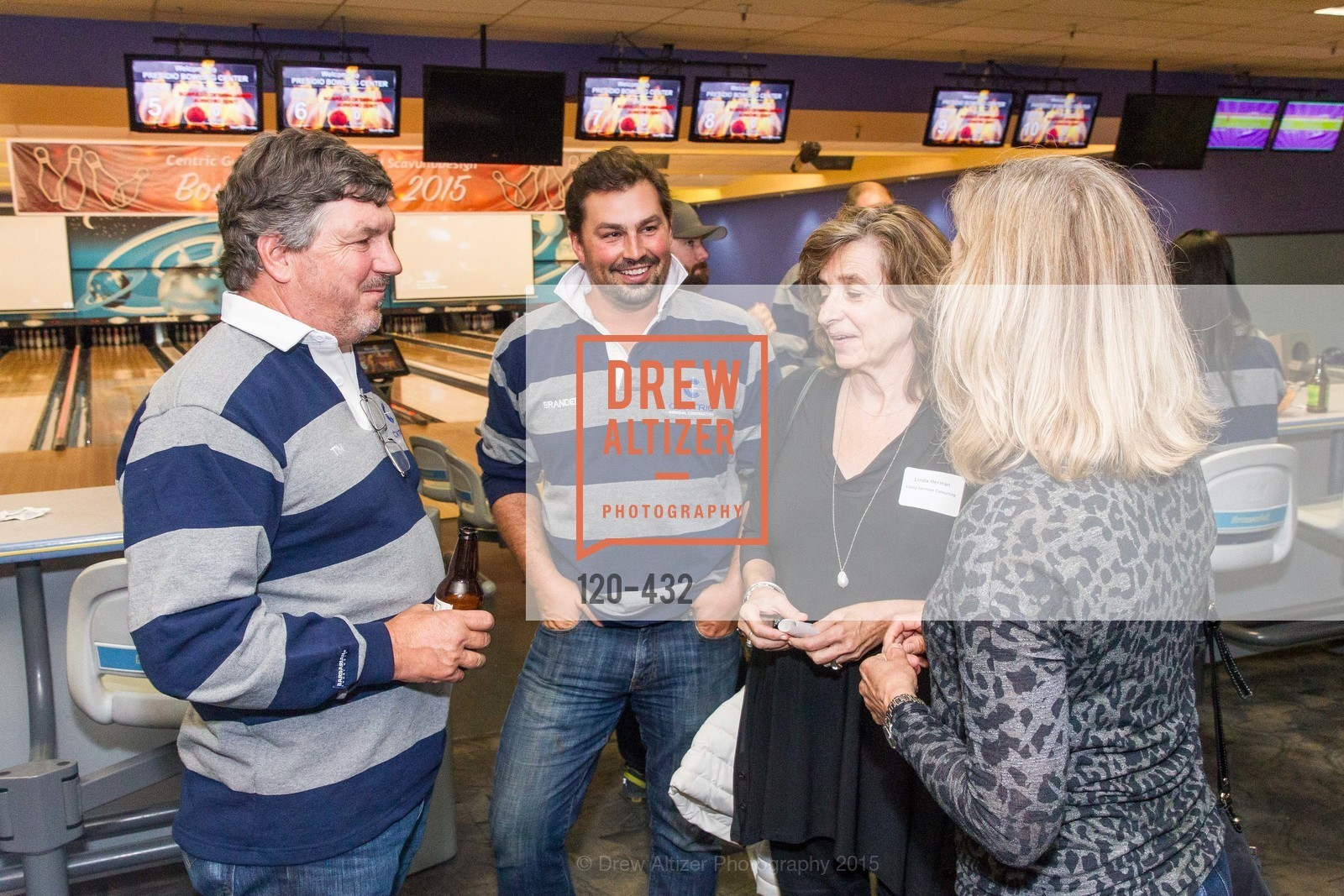 Tim McDonald, Branden McDonald, Linda Herman, ScavulloDesign Centric Builders Bowling Party, Presidio Bowl. 93 Moraga Ave, October 29th, 2015,Drew Altizer, Drew Altizer Photography, full-service agency, private events, San Francisco photographer, photographer california
