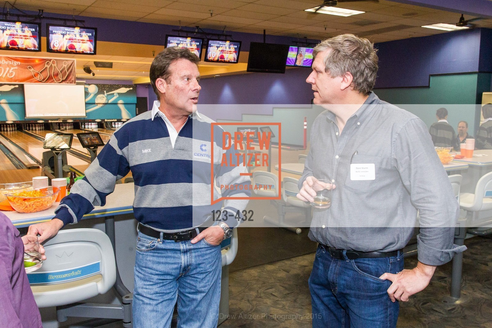 Mike Sweeney, Dave Sturm, ScavulloDesign Centric Builders Bowling Party, Presidio Bowl. 93 Moraga Ave, October 29th, 2015,Drew Altizer, Drew Altizer Photography, full-service agency, private events, San Francisco photographer, photographer california