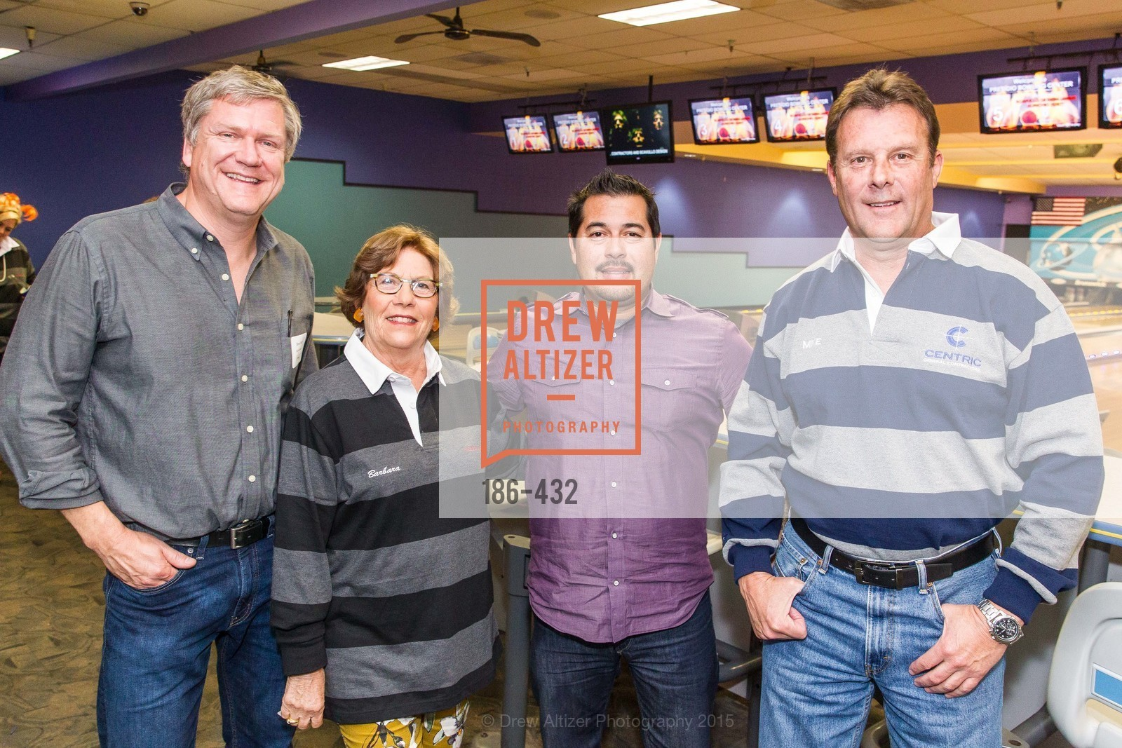 Dave Sturm, Barbara Scavullo, James Dijeau, Mike Sweeney, ScavulloDesign Centric Builders Bowling Party, Presidio Bowl. 93 Moraga Ave, October 29th, 2015,Drew Altizer, Drew Altizer Photography, full-service agency, private events, San Francisco photographer, photographer california