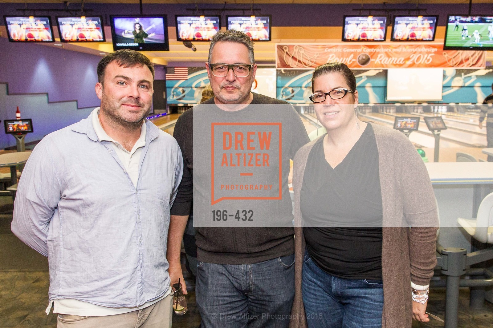 Clayton Timbrell, Vernon Applegate, Reba Jones, ScavulloDesign Centric Builders Bowling Party, Presidio Bowl. 93 Moraga Ave, October 29th, 2015,Drew Altizer, Drew Altizer Photography, full-service agency, private events, San Francisco photographer, photographer california
