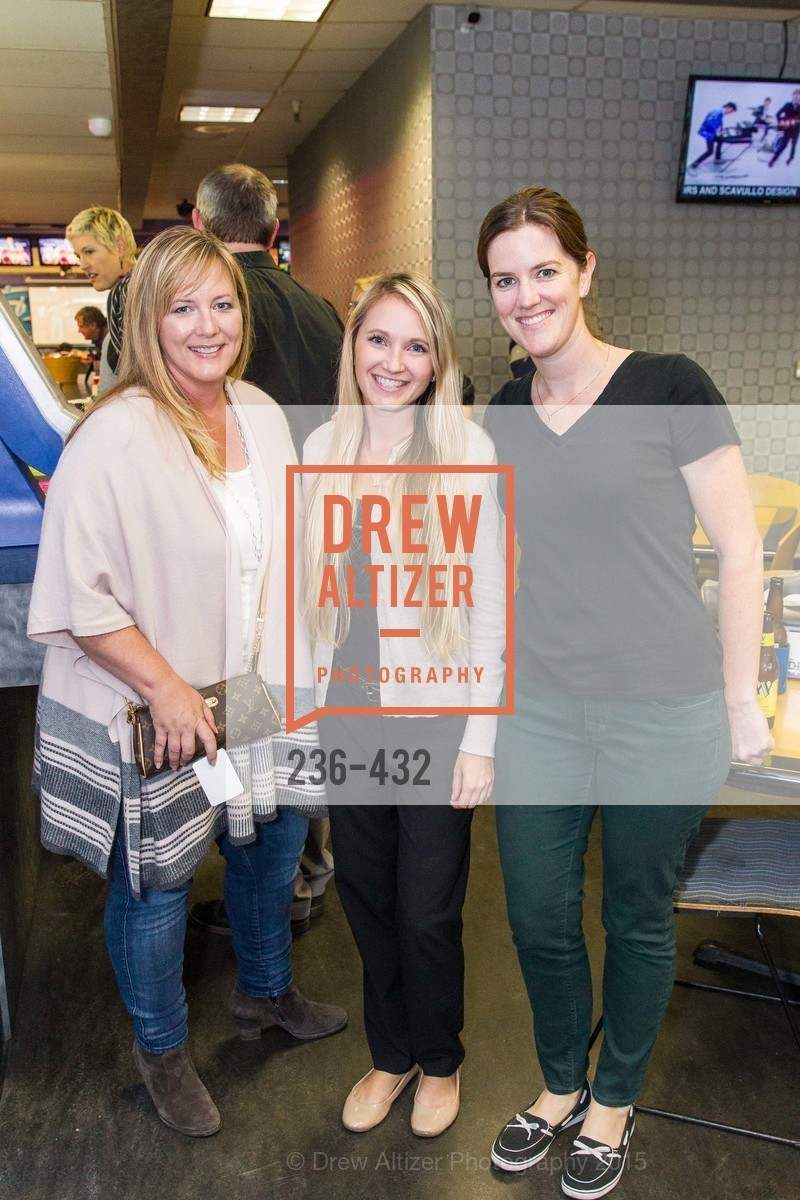 Kristi Will, Krista Barry, Maureen O'Sullivan, ScavulloDesign Centric Builders Bowling Party, Presidio Bowl. 93 Moraga Ave, October 29th, 2015,Drew Altizer, Drew Altizer Photography, full-service agency, private events, San Francisco photographer, photographer california