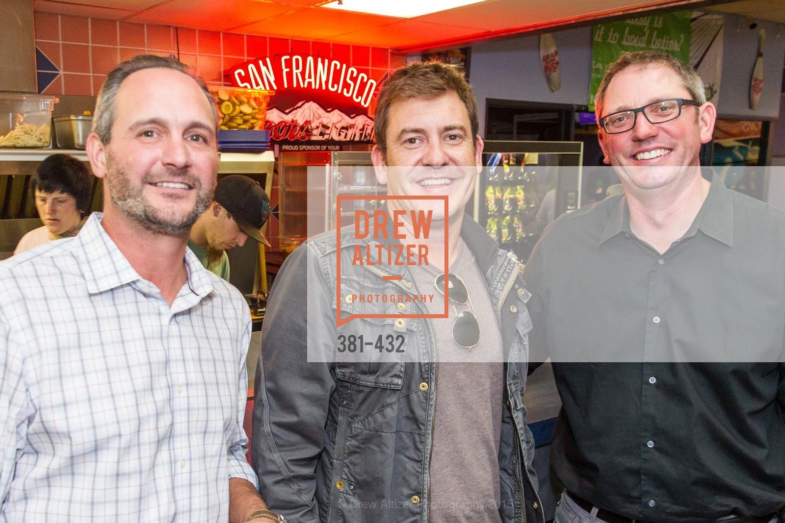 Brian Gianinno, Brad Haze, Aleck Wilson, ScavulloDesign Centric Builders Bowling Party, Presidio Bowl. 93 Moraga Ave, October 29th, 2015,Drew Altizer, Drew Altizer Photography, full-service agency, private events, San Francisco photographer, photographer california