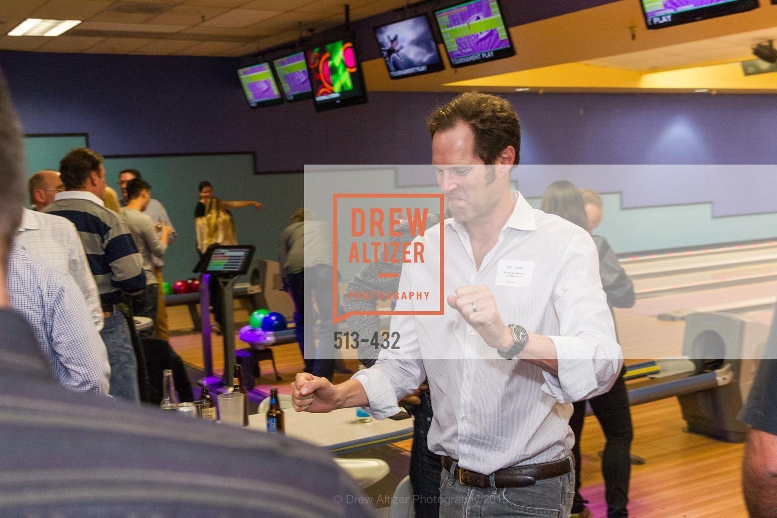 Eric Blasen, ScavulloDesign Centric Builders Bowling Party, Presidio Bowl. 93 Moraga Ave, October 29th, 2015,Drew Altizer, Drew Altizer Photography, full-service agency, private events, San Francisco photographer, photographer california