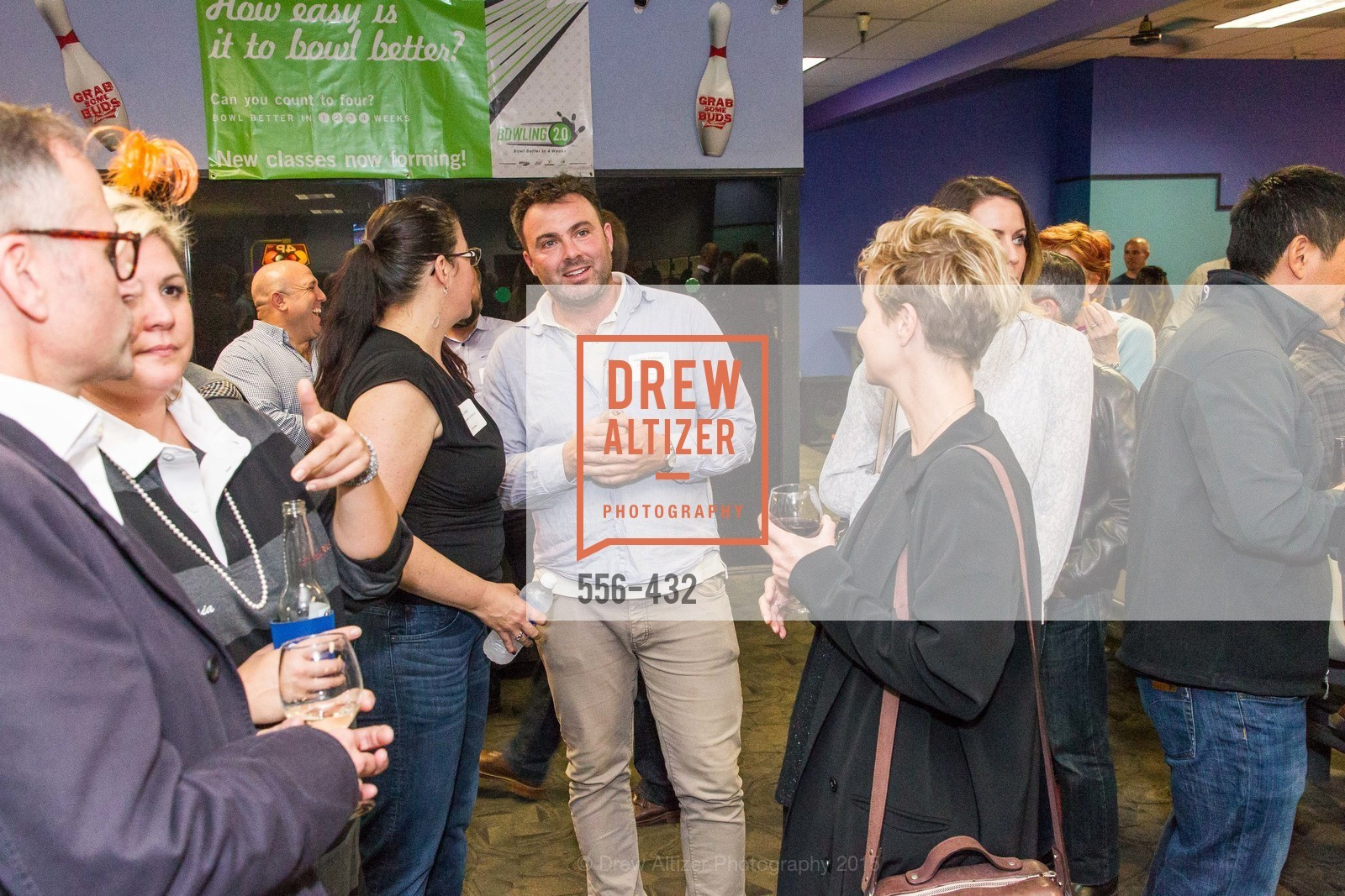 Reba Jones, Clayton Timbrell, ScavulloDesign Centric Builders Bowling Party, Presidio Bowl. 93 Moraga Ave, October 29th, 2015,Drew Altizer, Drew Altizer Photography, full-service agency, private events, San Francisco photographer, photographer california