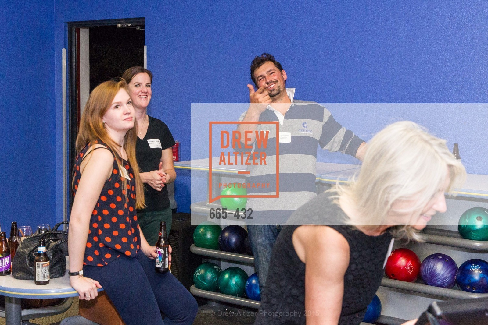 Richael Best, Maureen O'Sullivan, Branden McDonald, ScavulloDesign Centric Builders Bowling Party, Presidio Bowl. 93 Moraga Ave, October 29th, 2015,Drew Altizer, Drew Altizer Photography, full-service agency, private events, San Francisco photographer, photographer california