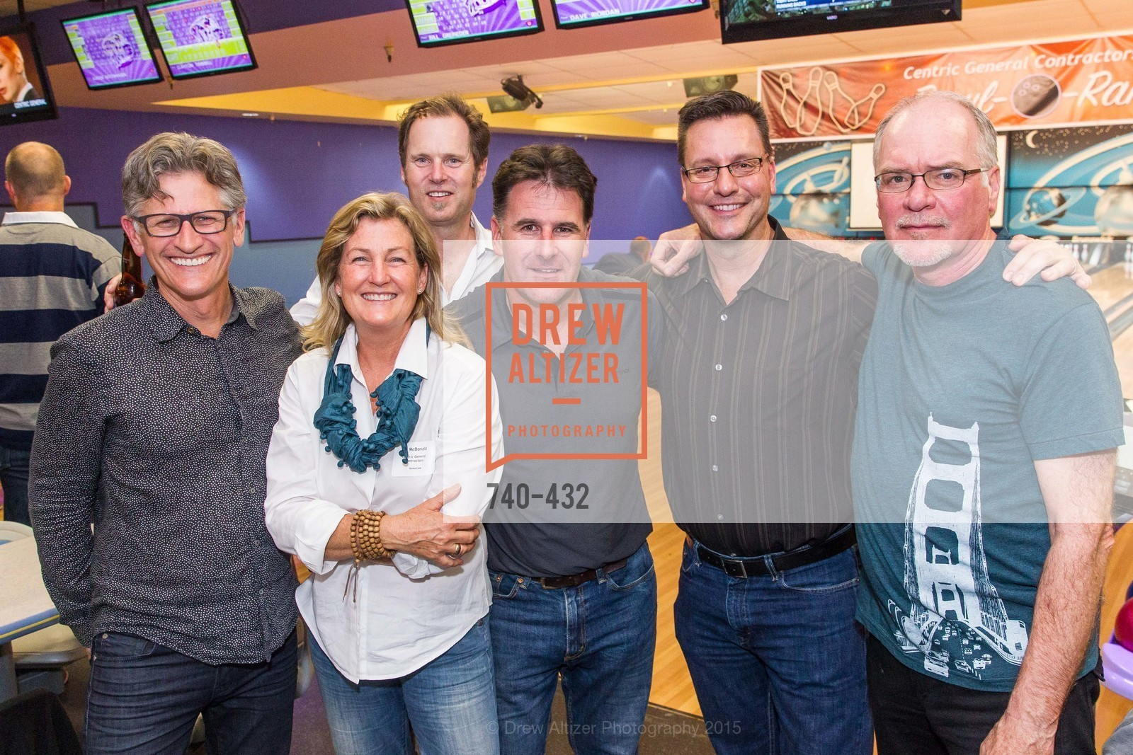 Mark English, Flin McDonald, Eric Blasen, Larry Steele, Terry Bryant, ScavulloDesign Centric Builders Bowling Party, Presidio Bowl. 93 Moraga Ave, October 29th, 2015,Drew Altizer, Drew Altizer Photography, full-service agency, private events, San Francisco photographer, photographer california