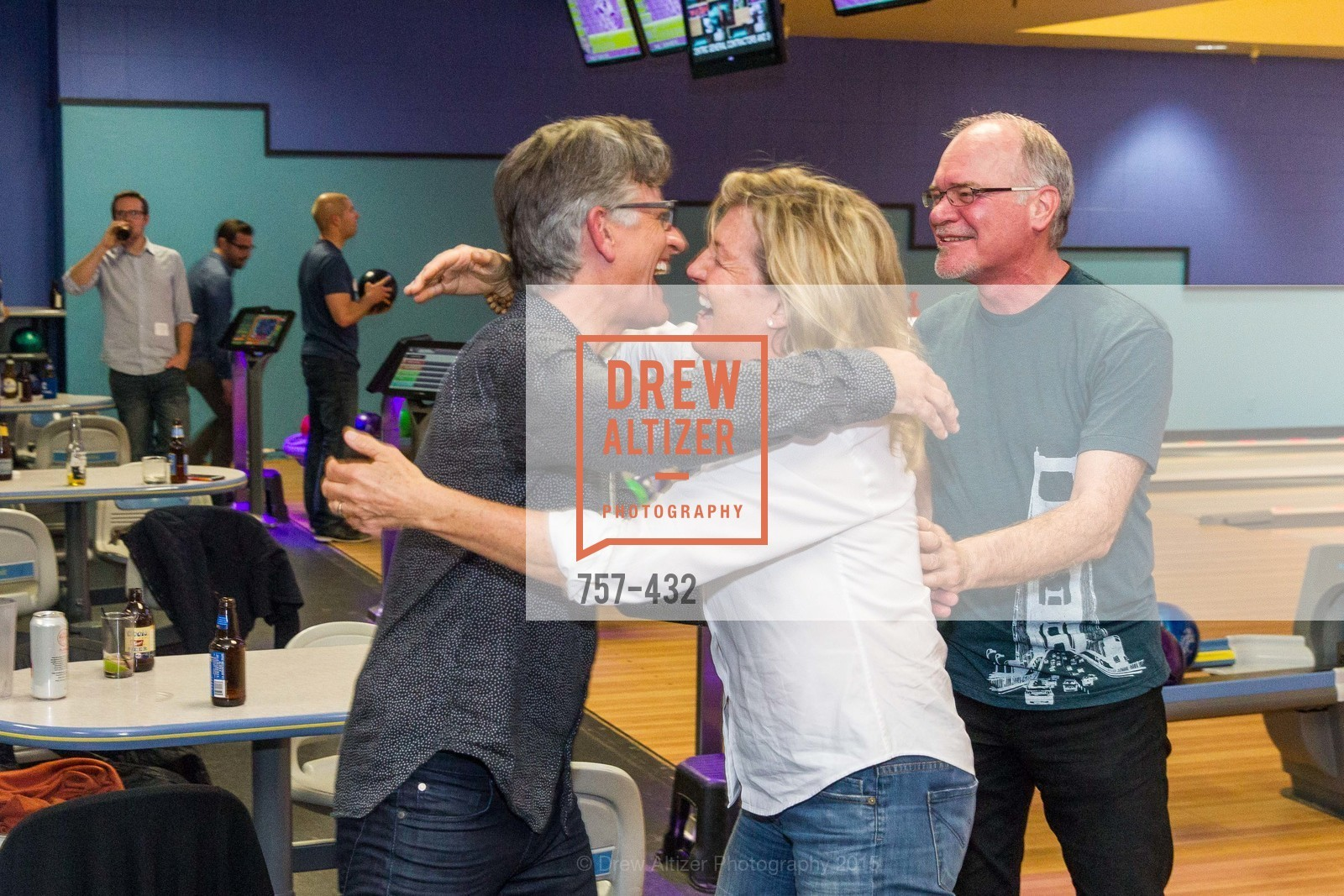 Mark English, Flin McDonald, Terry Bryant, ScavulloDesign Centric Builders Bowling Party, Presidio Bowl. 93 Moraga Ave, October 29th, 2015,Drew Altizer, Drew Altizer Photography, full-service agency, private events, San Francisco photographer, photographer california