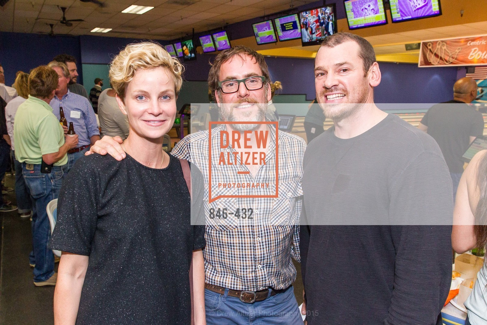 Erica Reid, John Toya, Cody Schrey, ScavulloDesign Centric Builders Bowling Party, Presidio Bowl. 93 Moraga Ave, October 29th, 2015,Drew Altizer, Drew Altizer Photography, full-service agency, private events, San Francisco photographer, photographer california