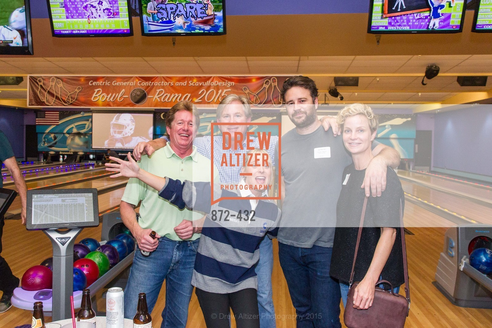 Steve Welch, Don Horton, Lindsay Herdell, Jay Parrish, Erica Reid, ScavulloDesign Centric Builders Bowling Party, Presidio Bowl. 93 Moraga Ave, October 29th, 2015,Drew Altizer, Drew Altizer Photography, full-service agency, private events, San Francisco photographer, photographer california