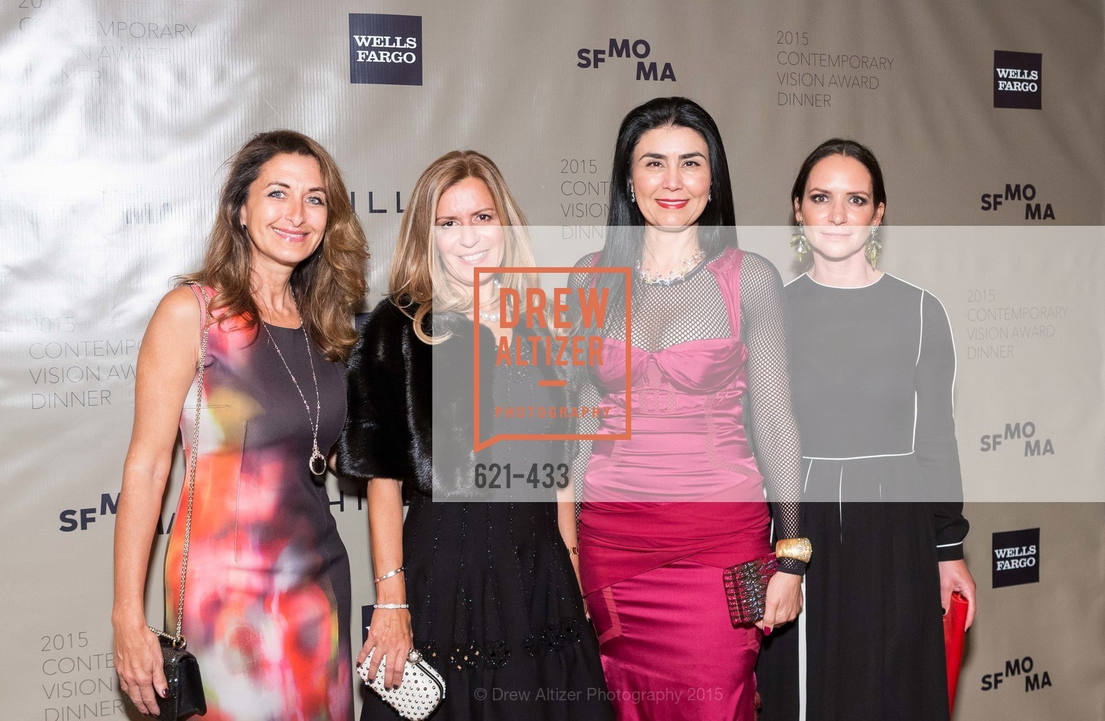 Angela De La Housaye, Yvette Esserman, Afsaneh Akhtari, Courtney Dallaire, SFMOMA Contemporary Vision Award, Regency Ballroom. 1300 Van Ness, November 3rd, 2015,Drew Altizer, Drew Altizer Photography, full-service agency, private events, San Francisco photographer, photographer california